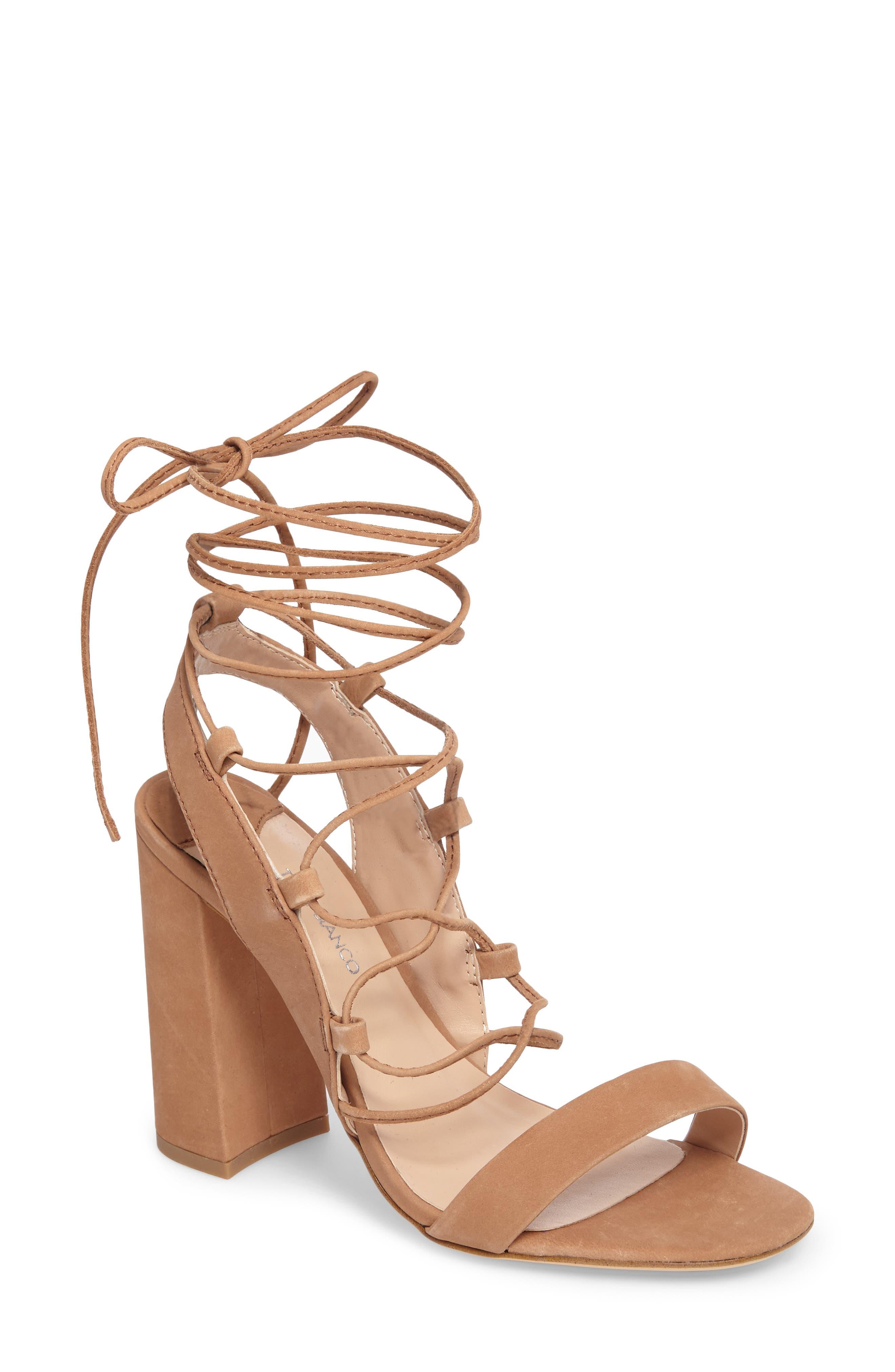 Dani Ghillie Flared Heel Sandal,                             Main thumbnail 2, color,