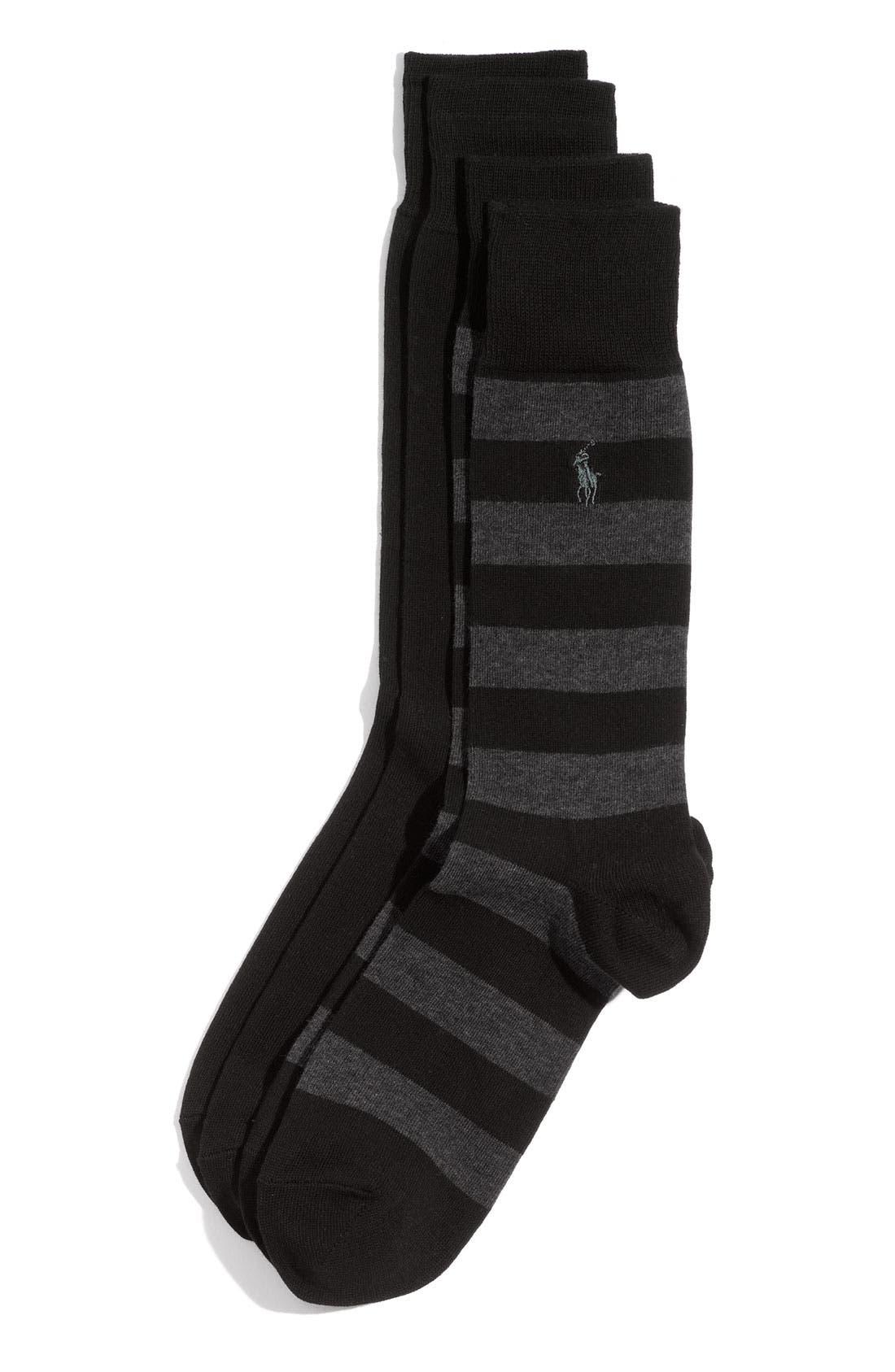 Cotton Blend Socks,                             Main thumbnail 2, color,