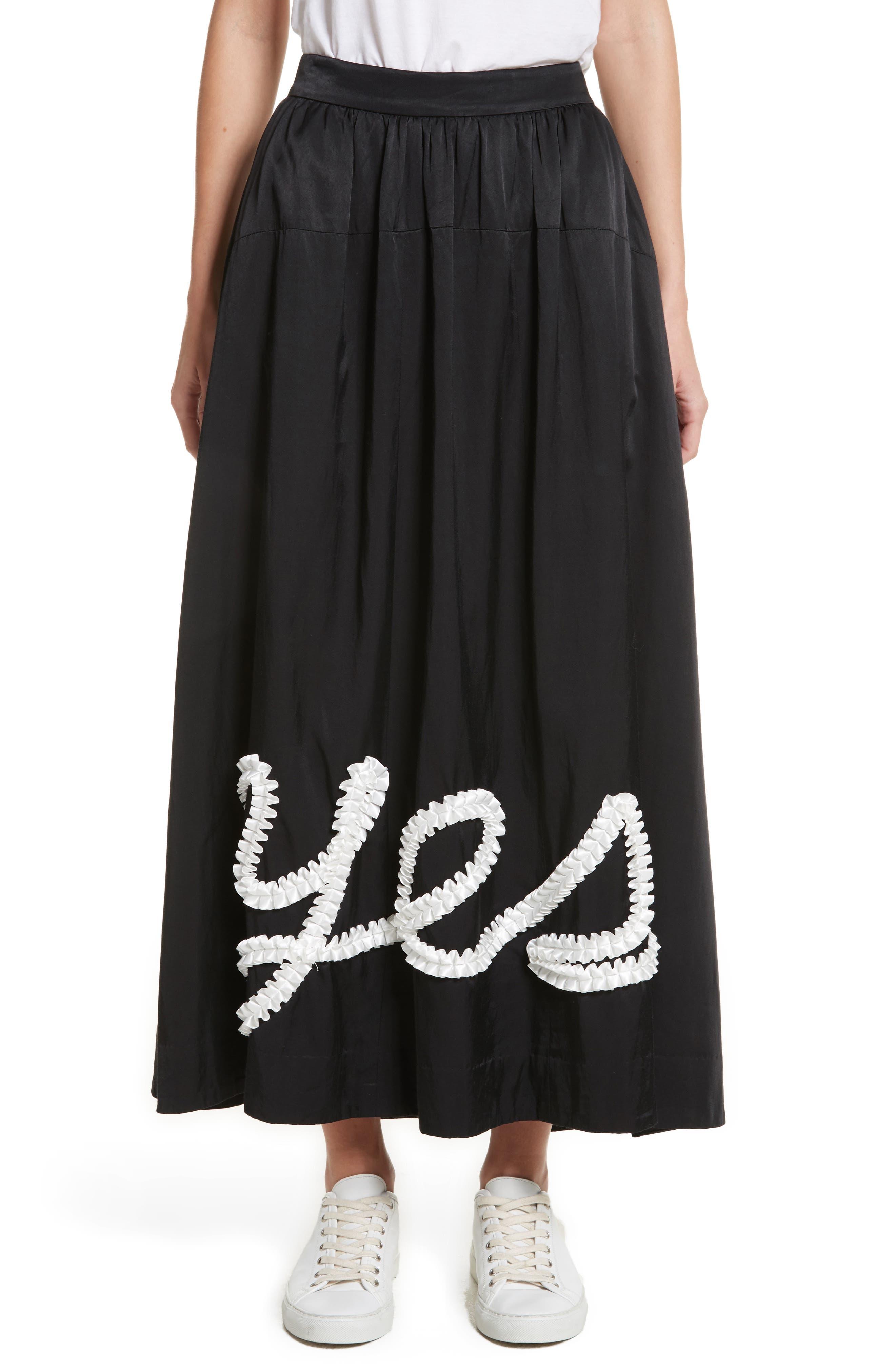 Yes Ribbon Maxi Skirt,                             Main thumbnail 1, color,