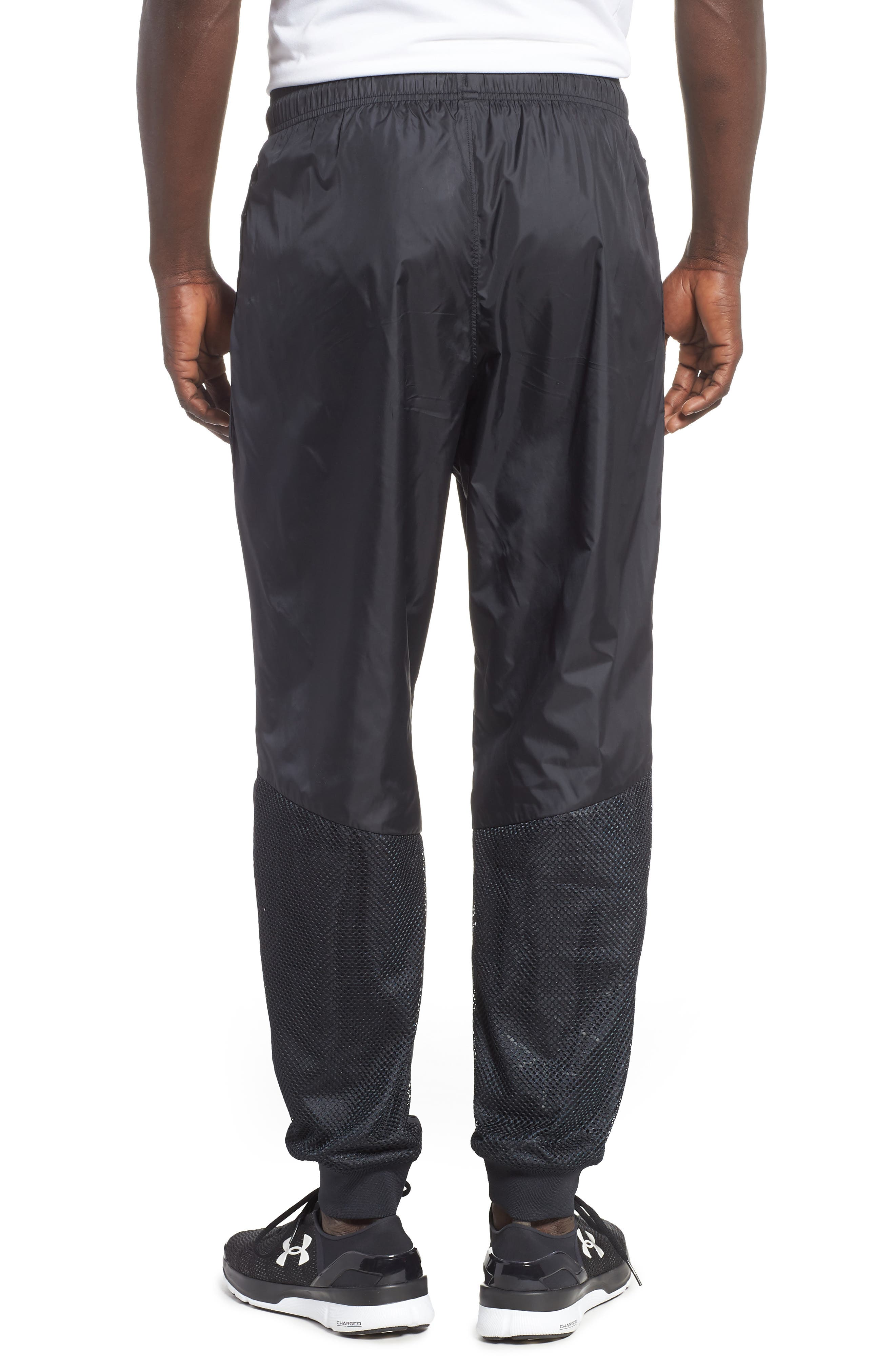 UNDER ARMOUR,                             Sportstyle Wind Pants,                             Alternate thumbnail 2, color,                             BLACK