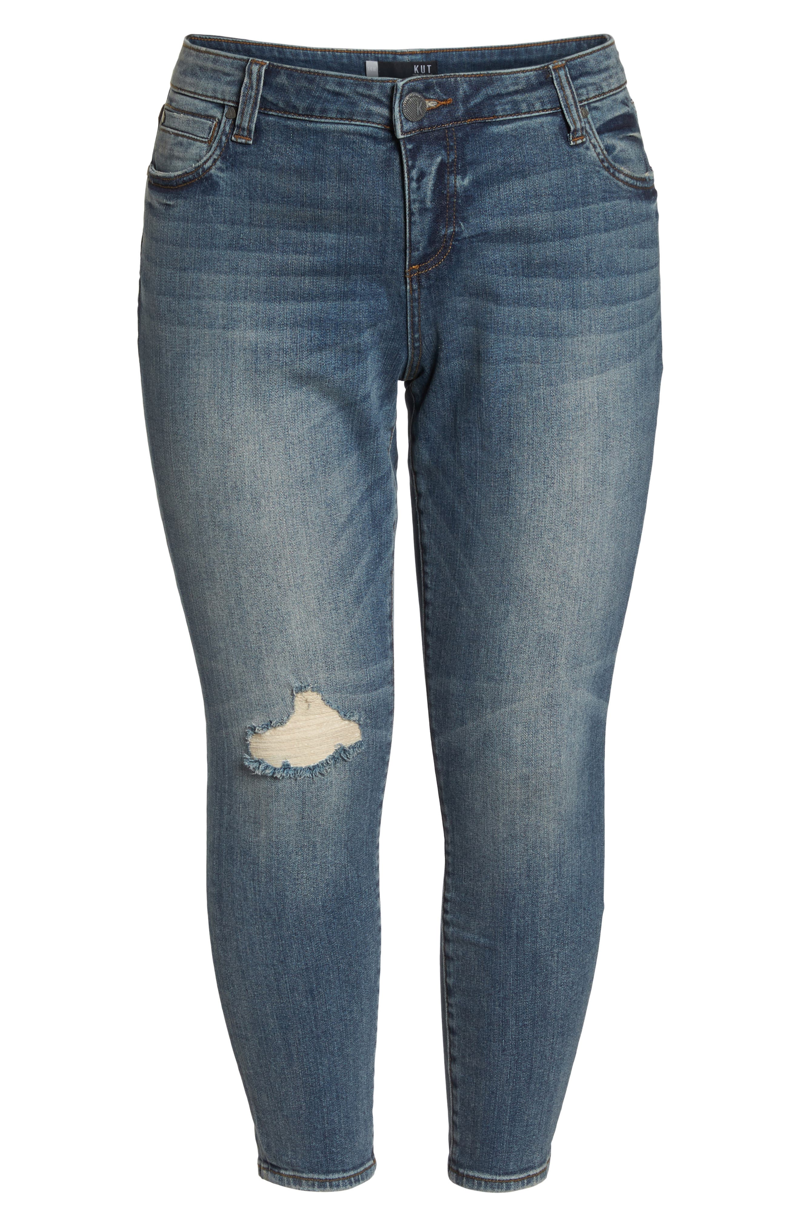 Catherine Ankle Straight Leg Jeans,                             Alternate thumbnail 7, color,                             452