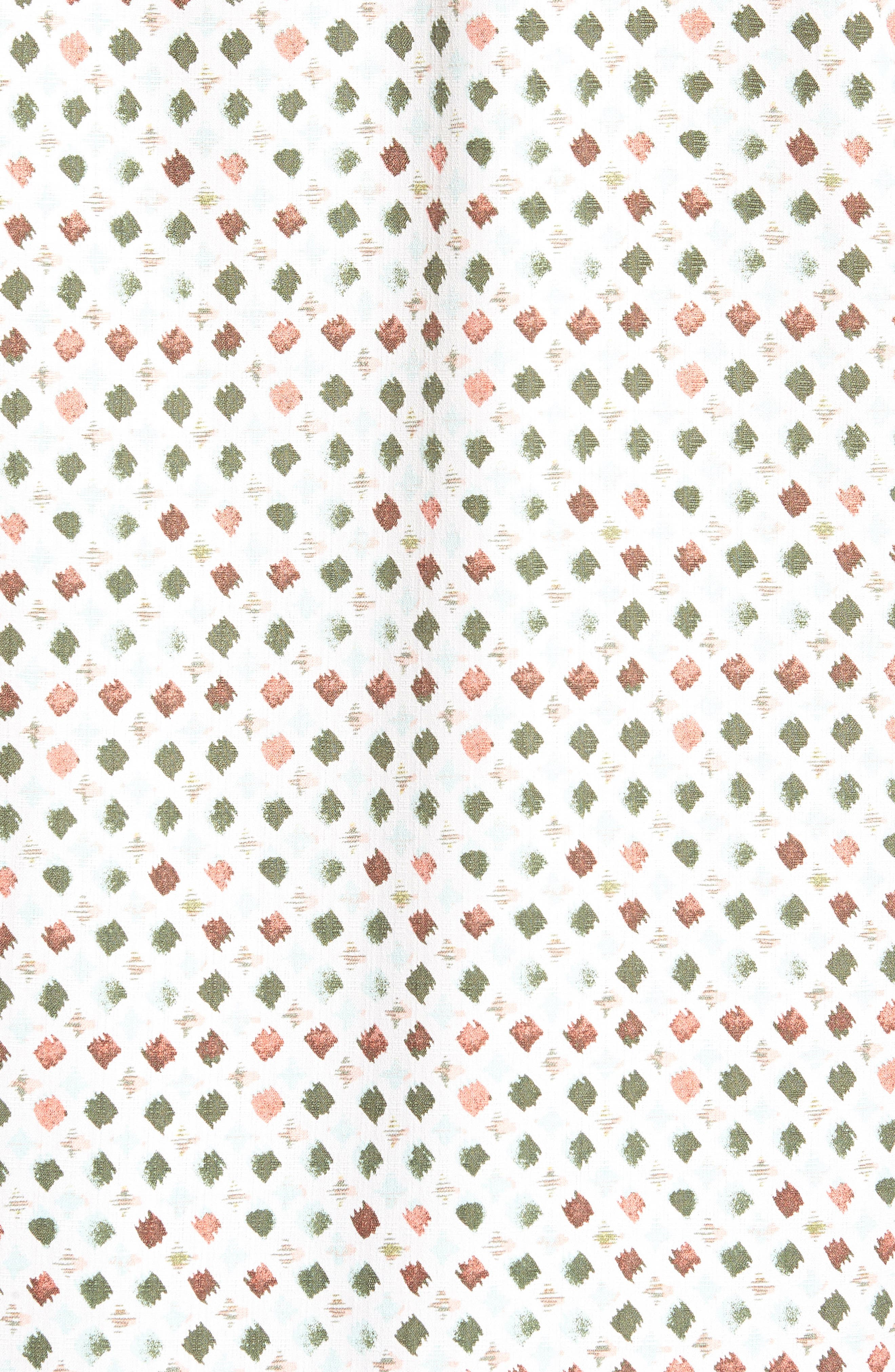Atomic Geo Print Silk Sport Shirt,                             Alternate thumbnail 5, color,                             COCONUT CREAM