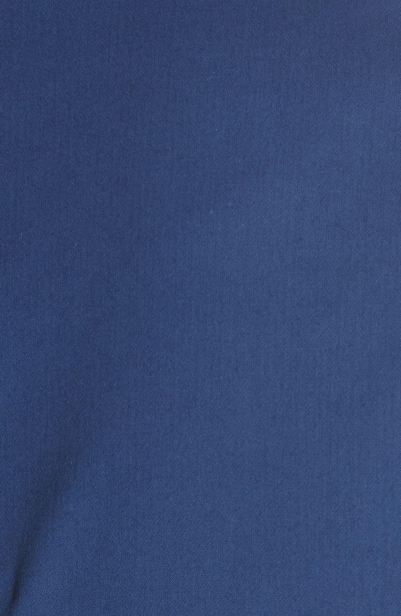 Lennox Belted Midi Dress,                             Alternate thumbnail 6, color,                             BLUE