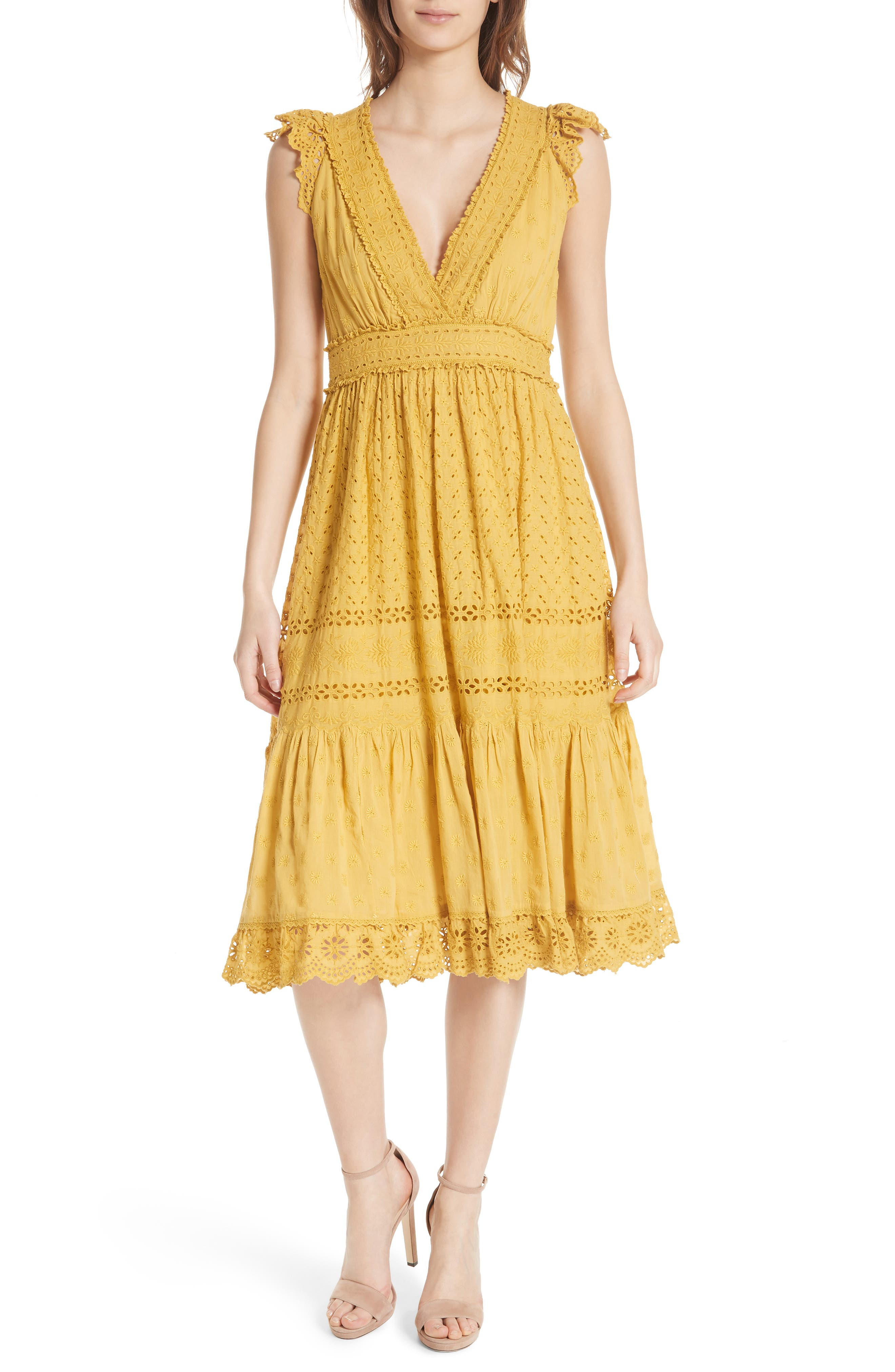 Marjorie Eyelet Dress,                             Main thumbnail 1, color,                             700