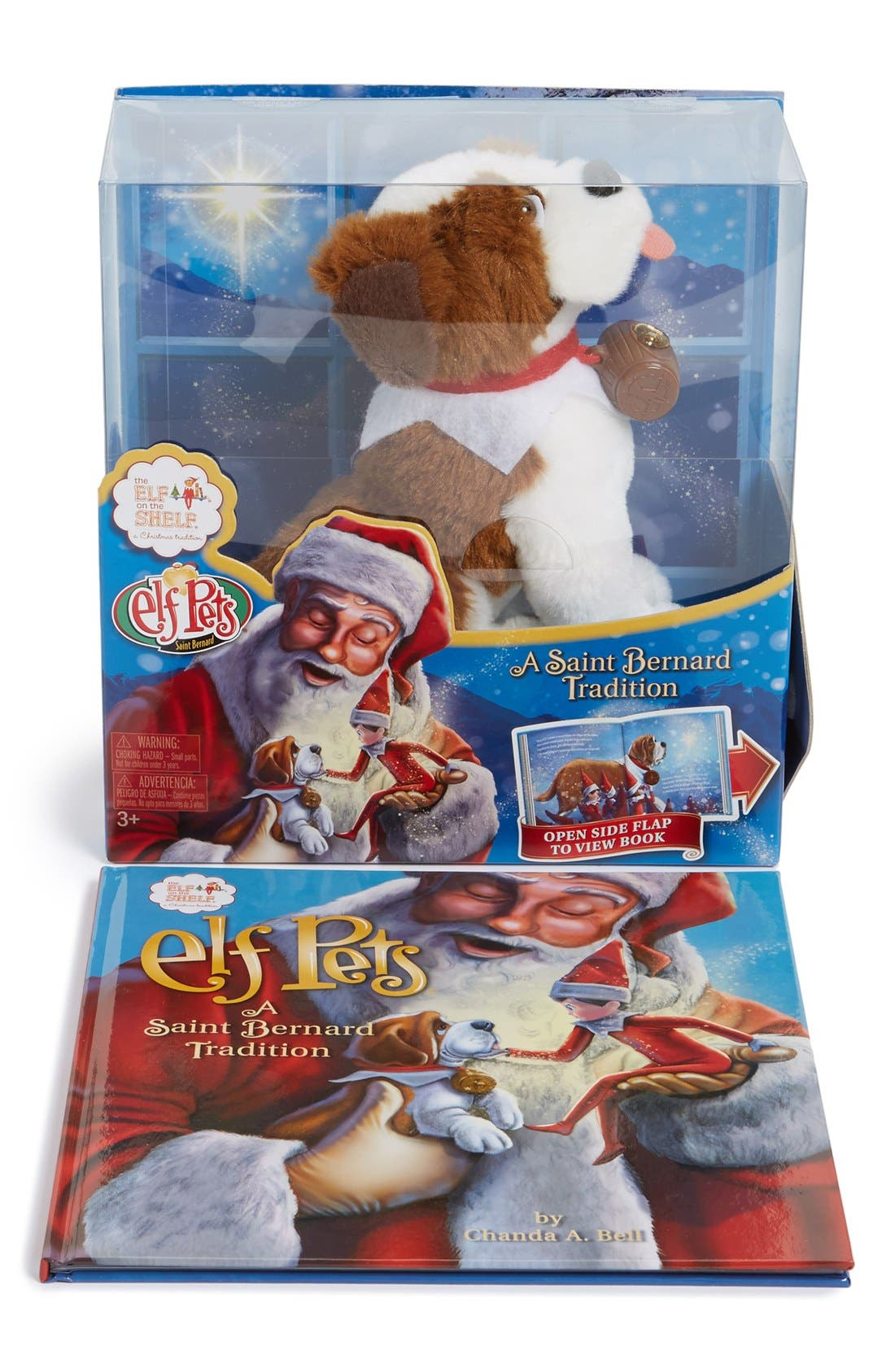 Elf Pets<sup>®</sup>: A Saint Bernard Tradition Book & Stuffed Animal,                             Main thumbnail 1, color,                             MULTI