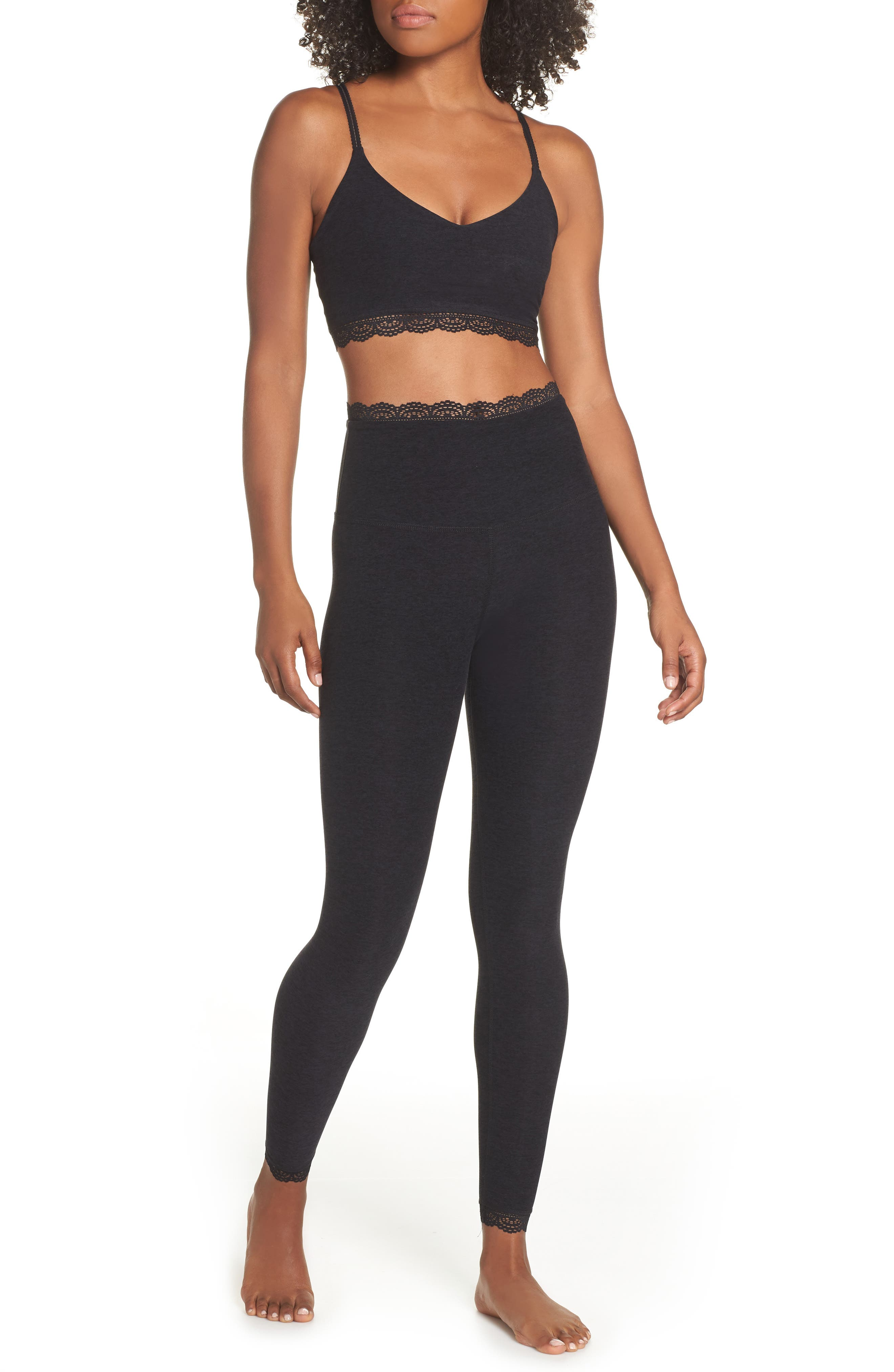 BEYOND YOGA,                             All For Lace Leggings,                             Alternate thumbnail 8, color,                             003