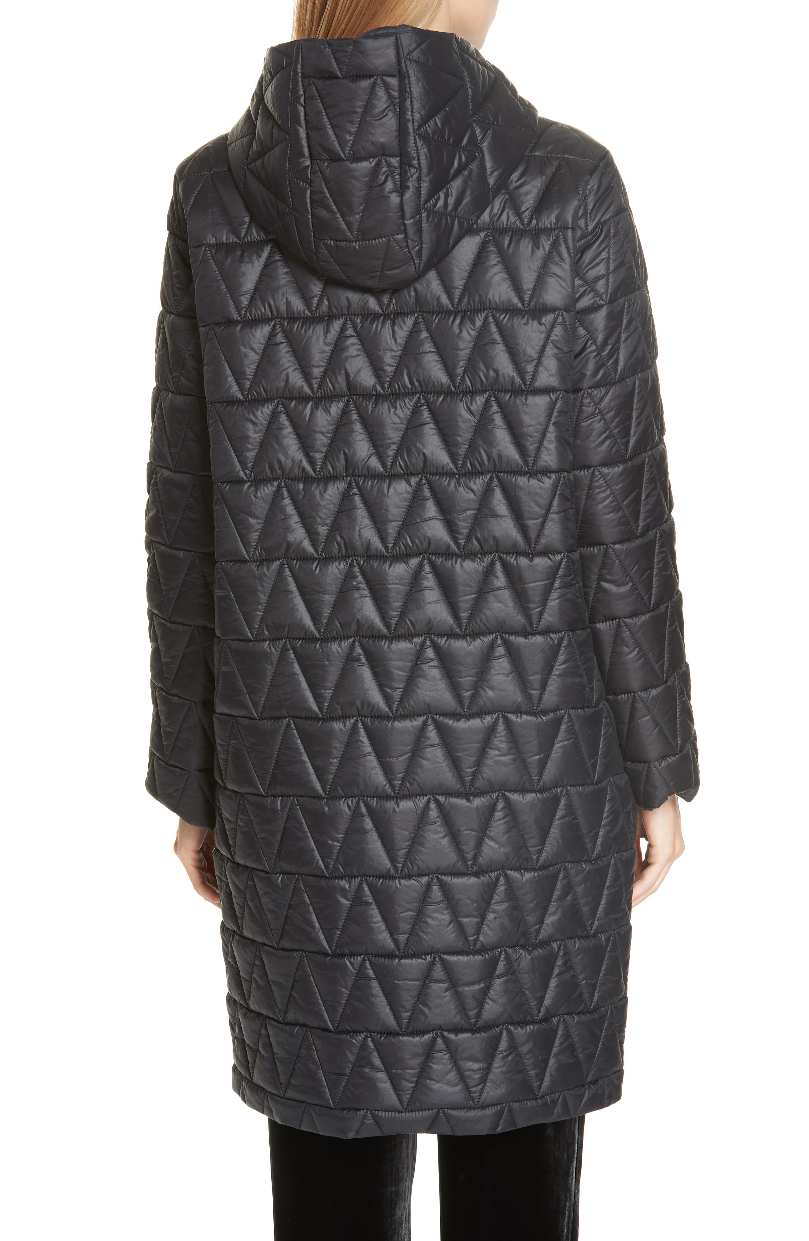 Hooded Quilted Coat,                             Alternate thumbnail 2, color,                             001