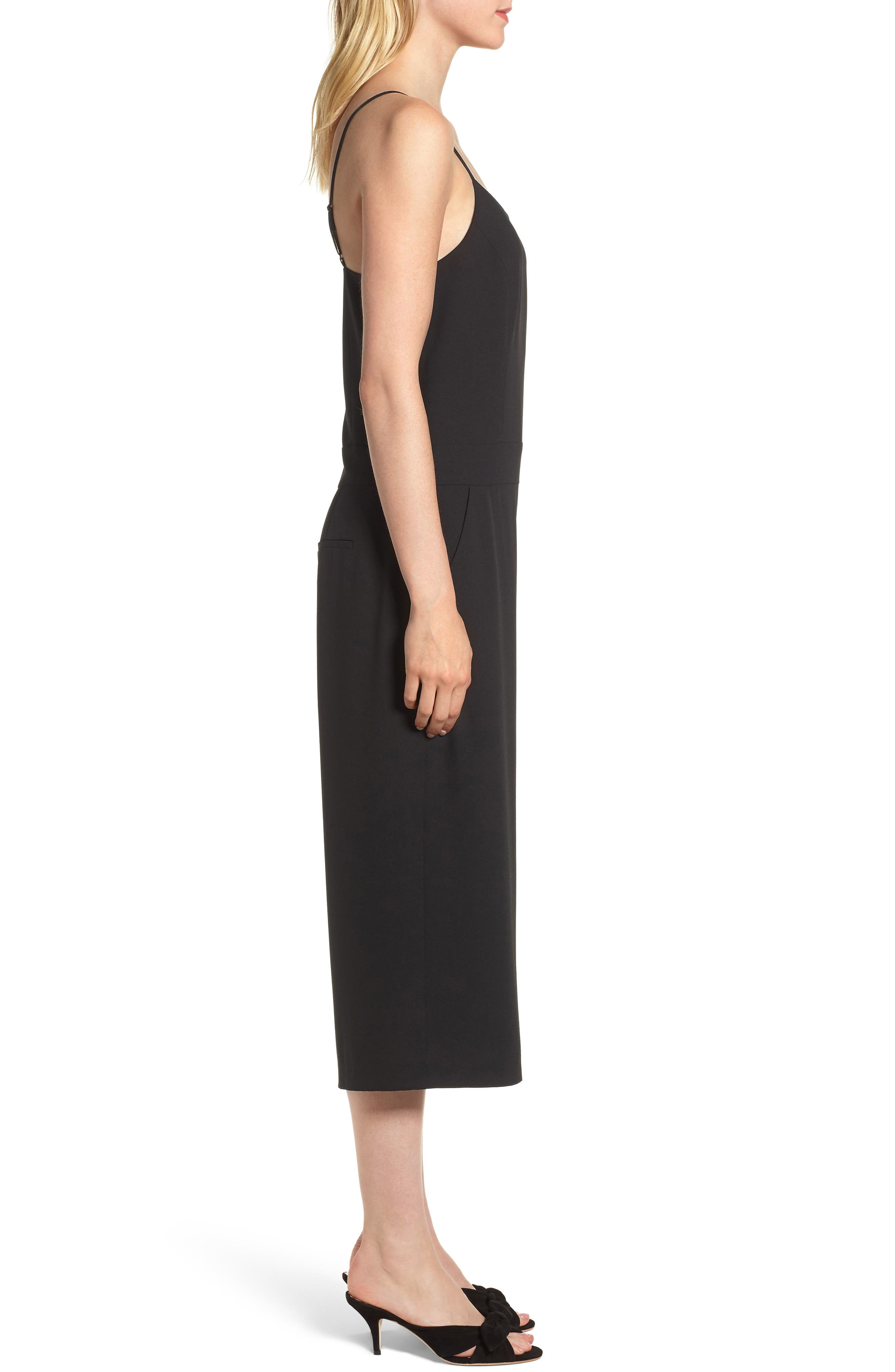 Spaghetti Strap Culotte Jumpsuit,                             Alternate thumbnail 3, color,                             006
