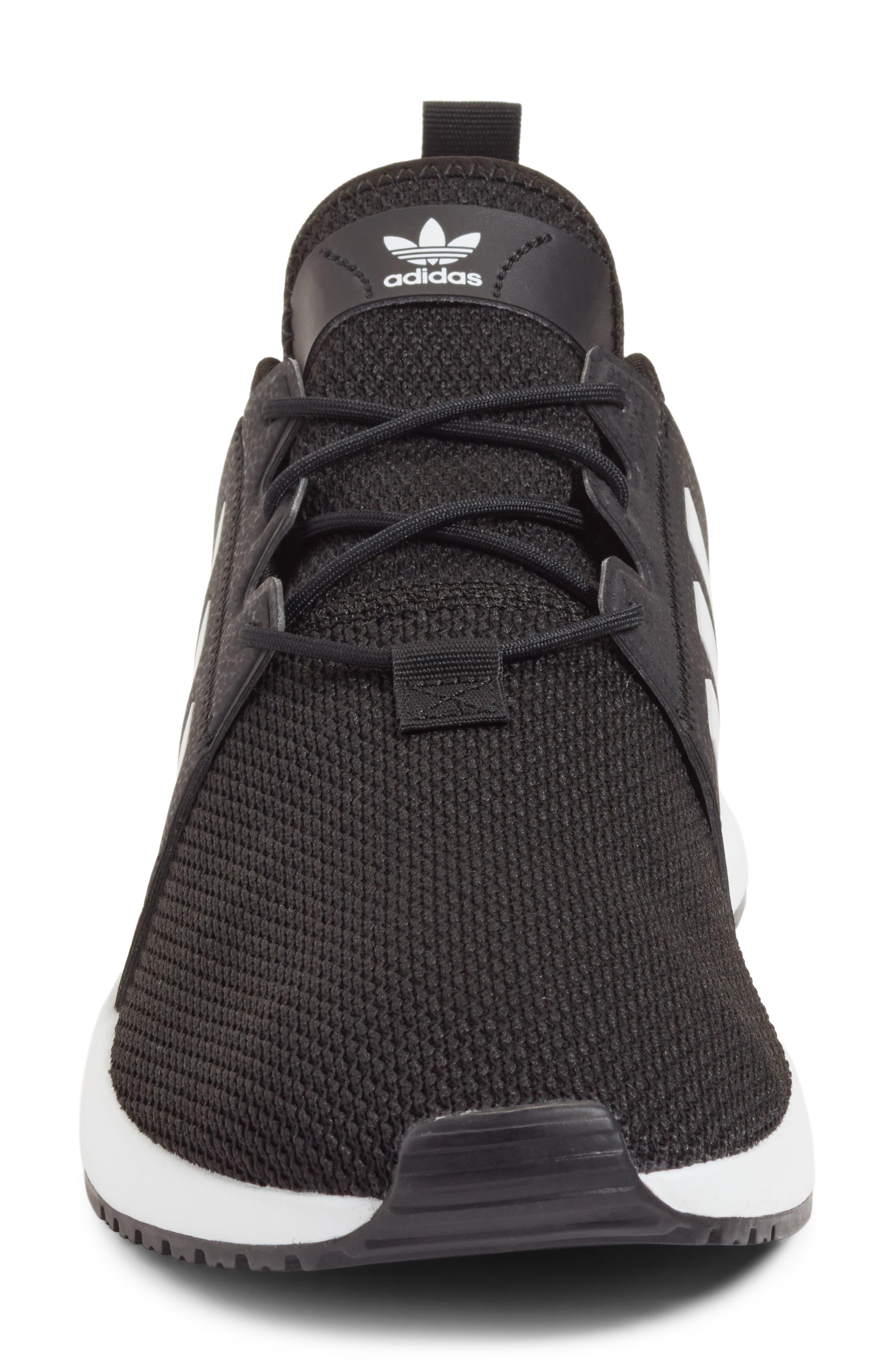 X_PLR Sneaker,                             Alternate thumbnail 4, color,                             BLACK/ WHITE/ BLACK