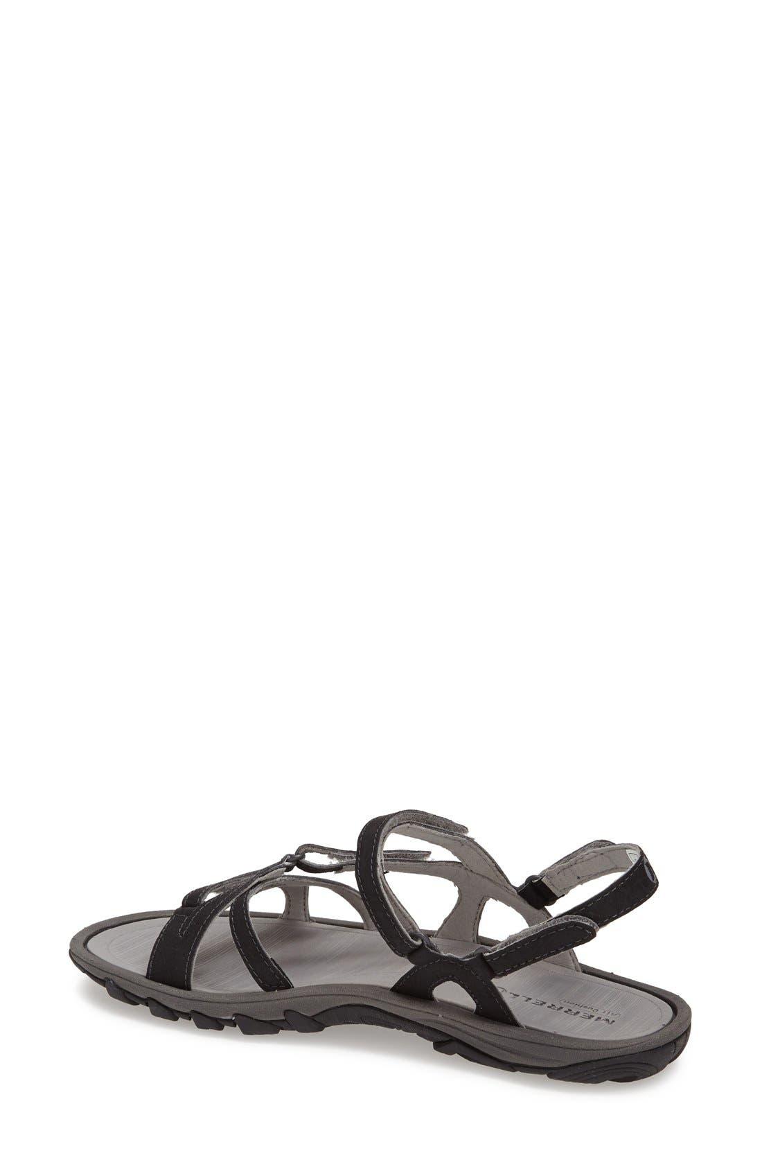 'Enoki' Water-Resistant Sandal,                             Alternate thumbnail 4, color,                             001