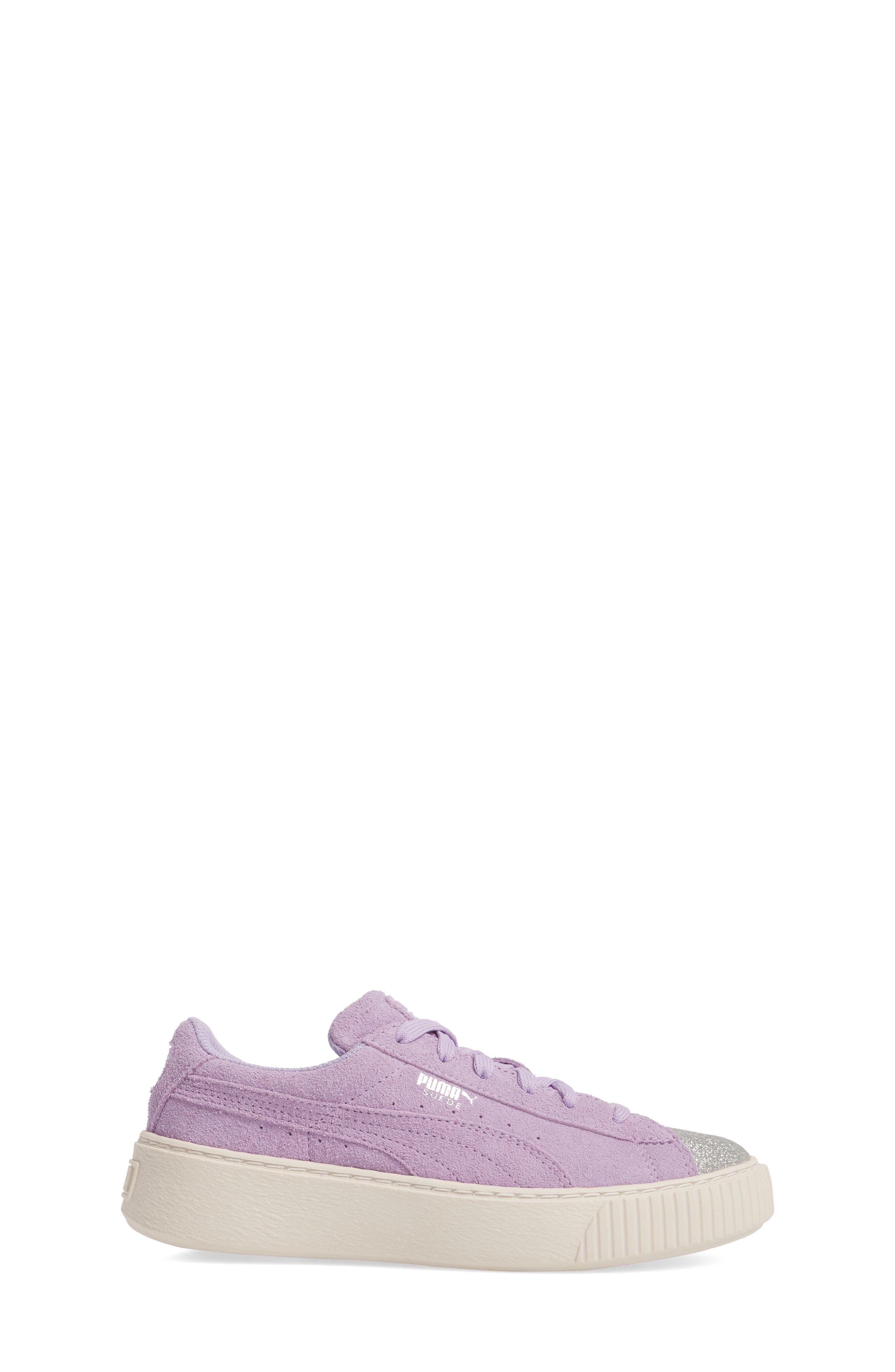 Suede Platform Glam PS Sneaker,                             Alternate thumbnail 13, color,