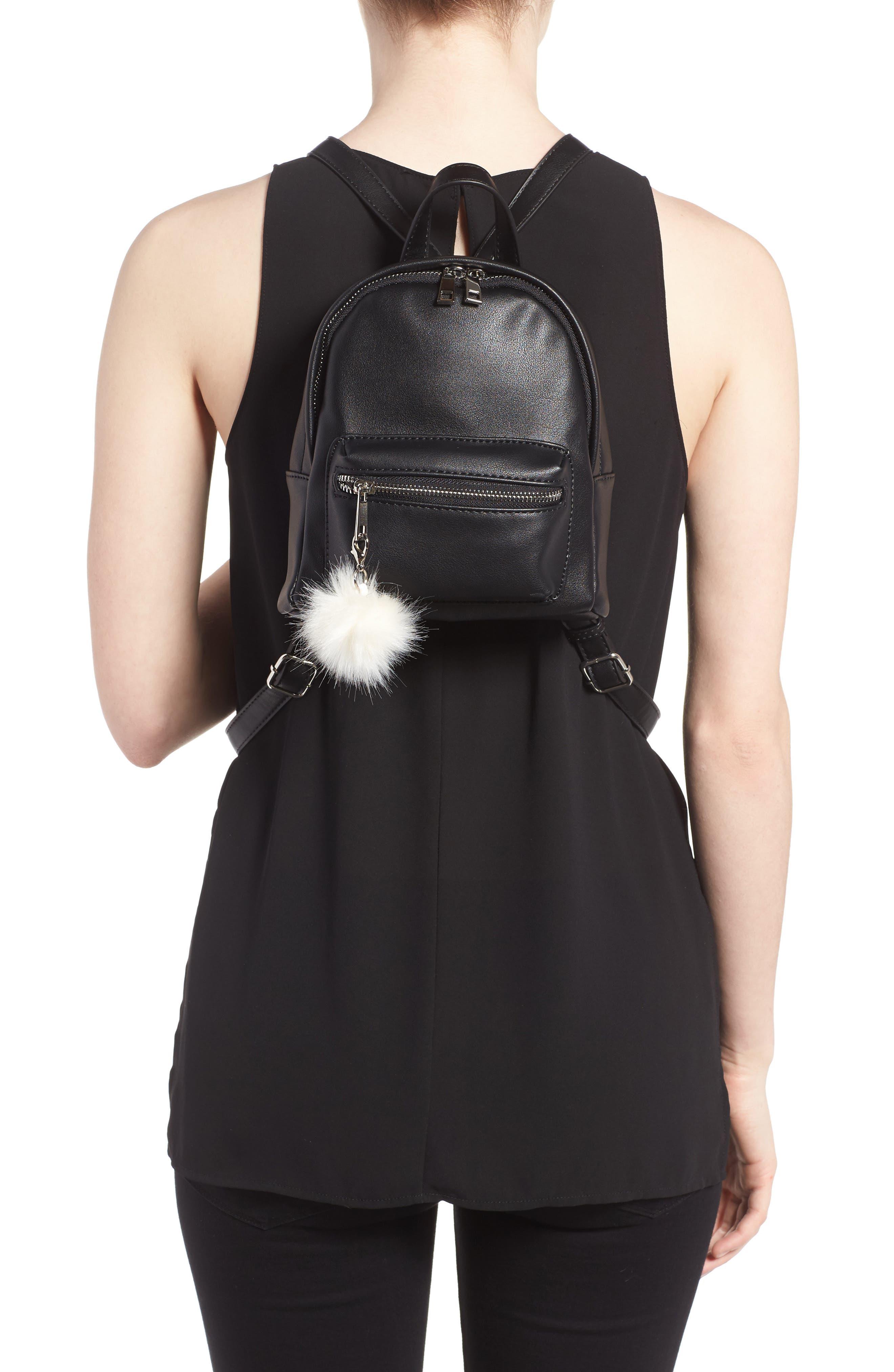Faux Leather Mini Backpack,                             Alternate thumbnail 13, color,