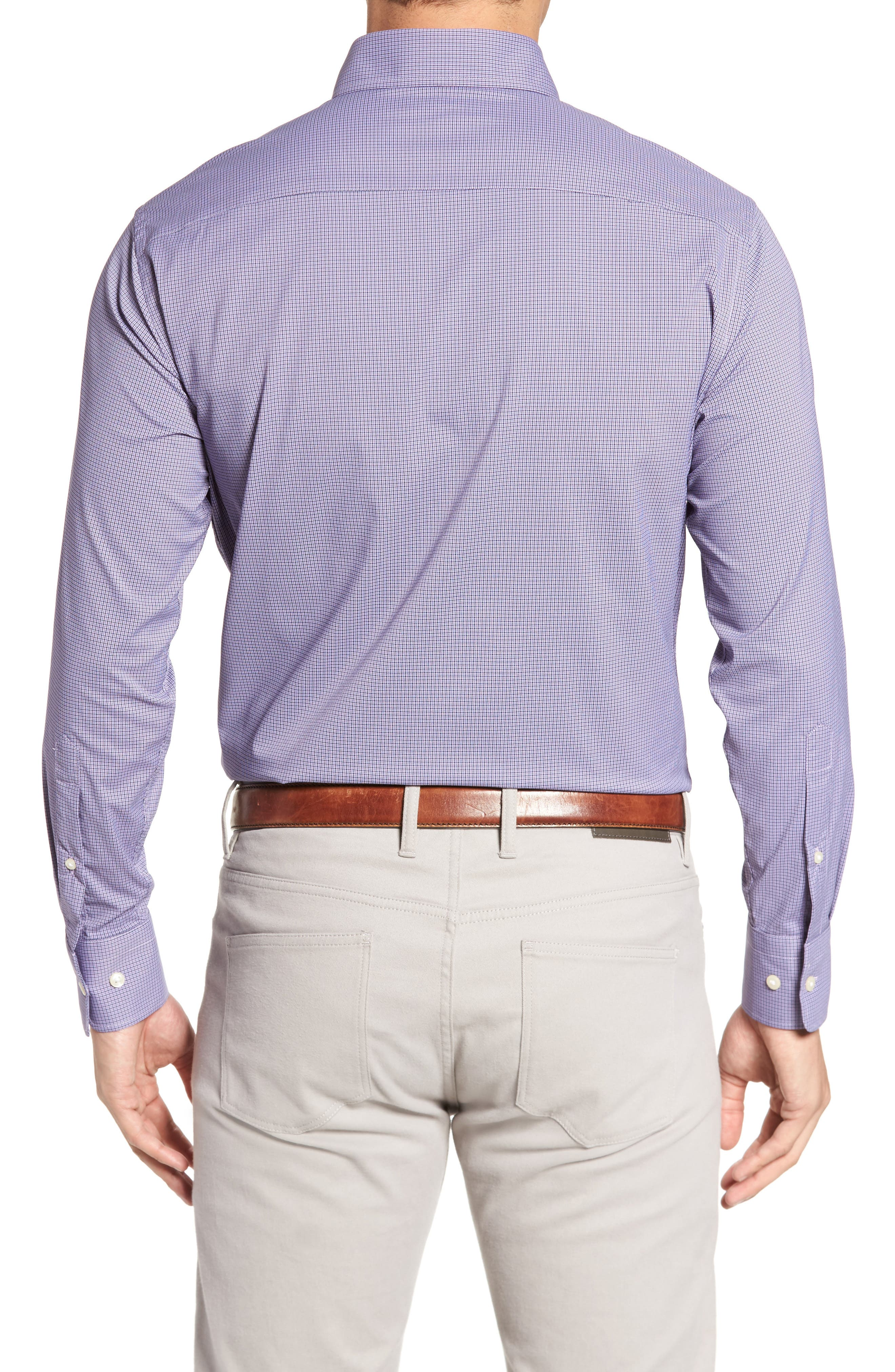 Parsons Check Performance Sport Shirt,                             Alternate thumbnail 2, color,