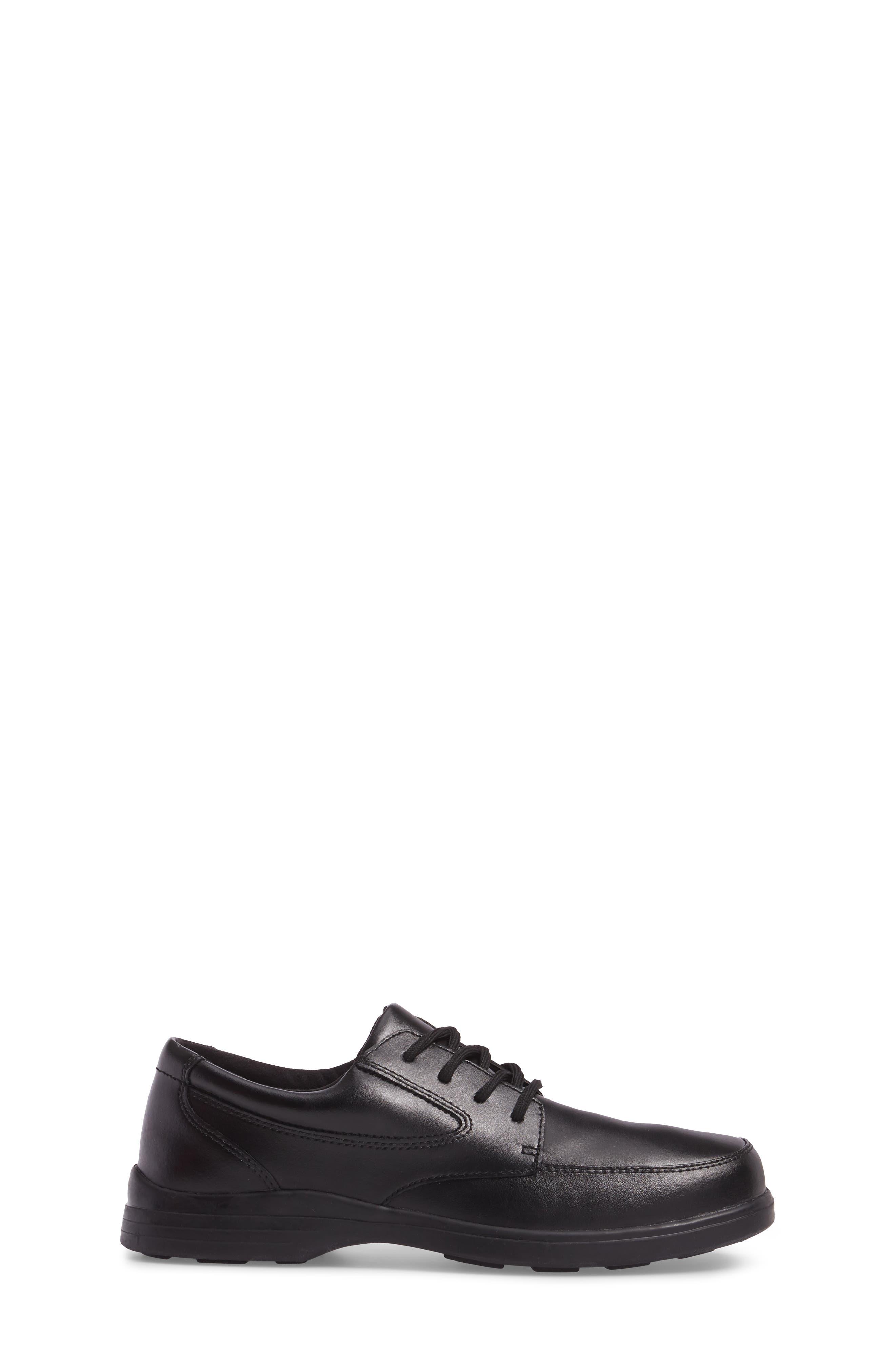 Ty Dress Shoe,                             Alternate thumbnail 3, color,                             BLACK LEATHER