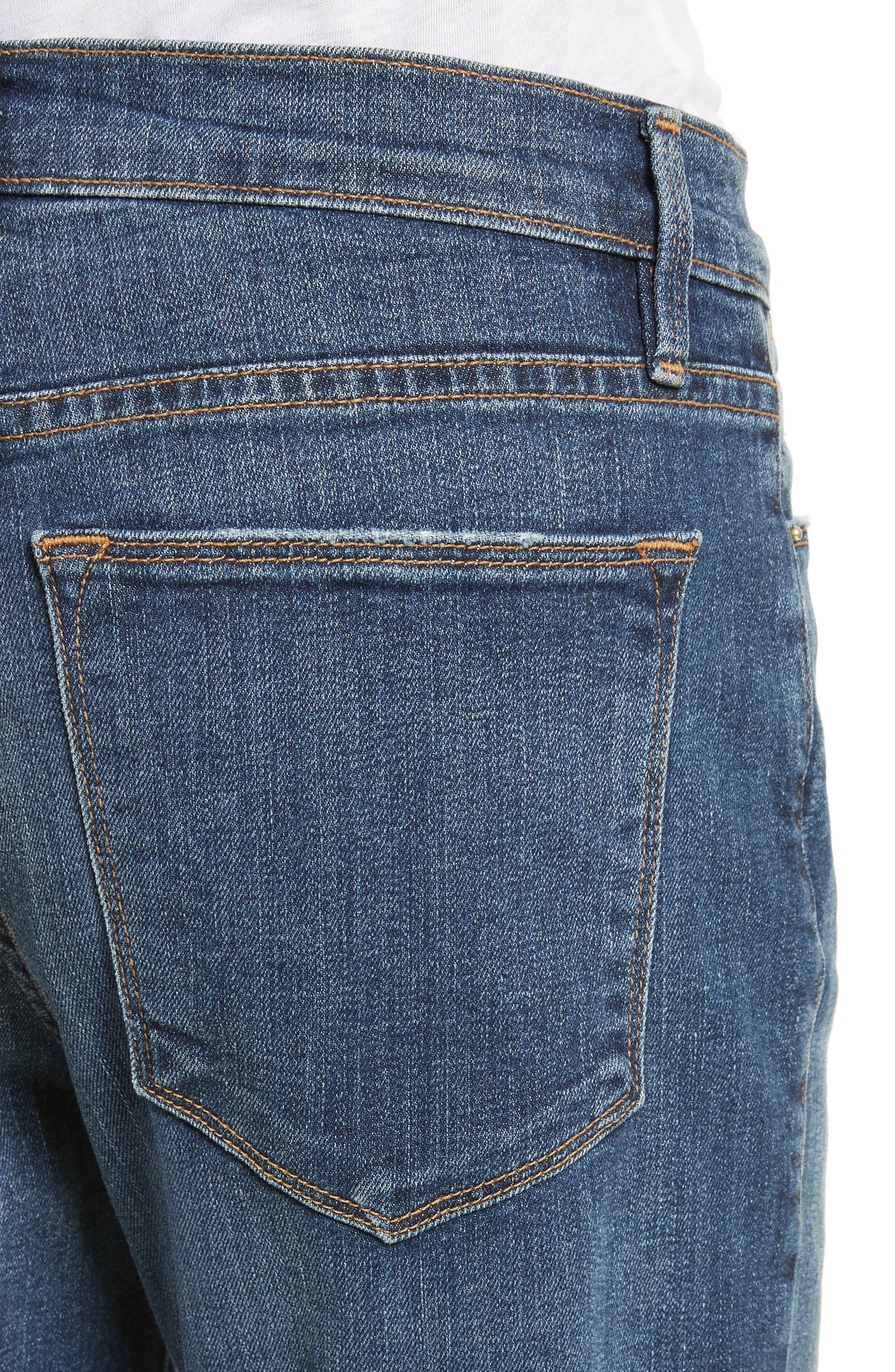 Le High Straight High Rise Jeans,                             Alternate thumbnail 4, color,                             402