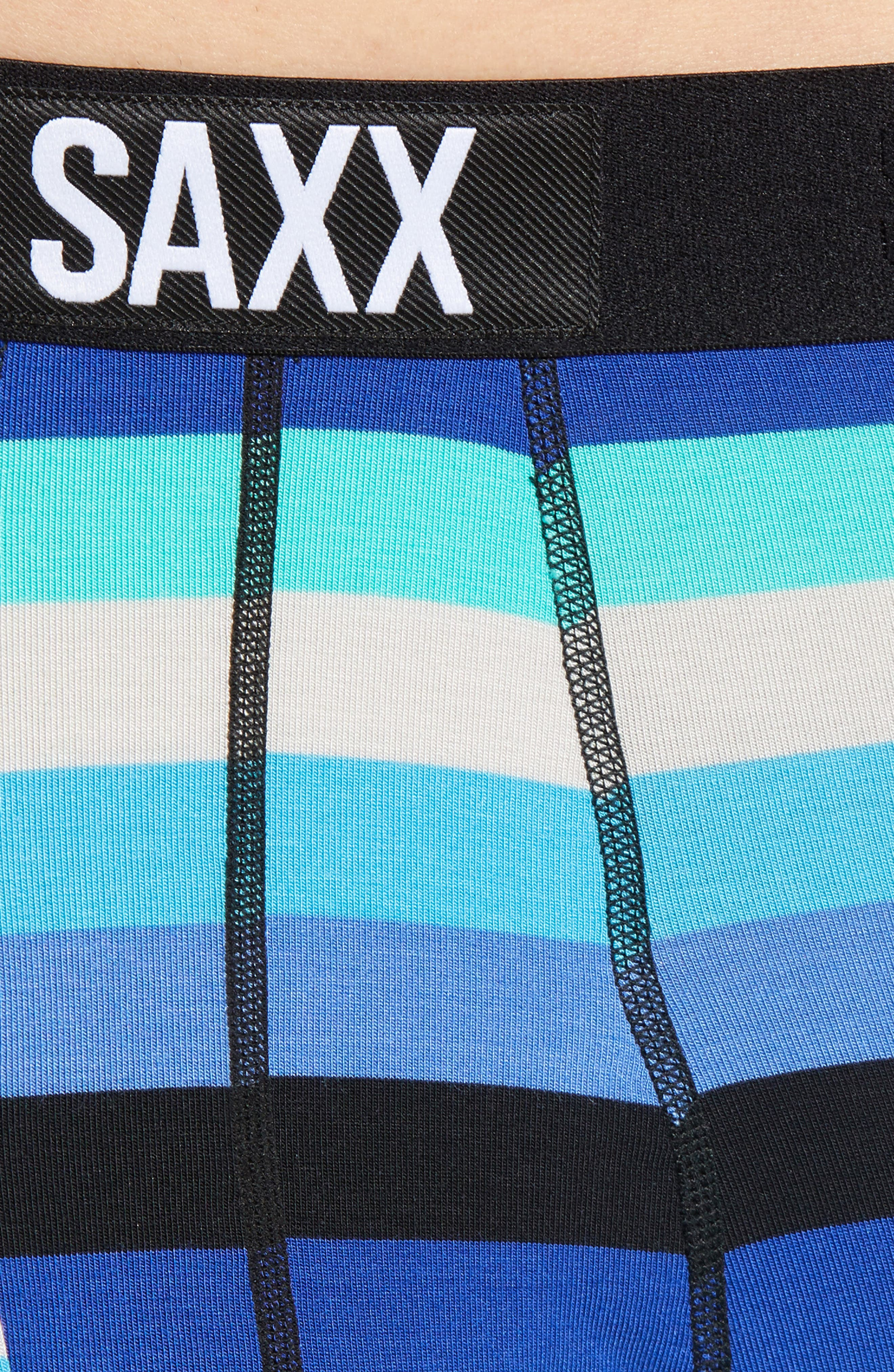 Ultra Cabana Stripe Stretch Boxer Briefs,                             Alternate thumbnail 4, color,                             BLUE CABANA STRIPE