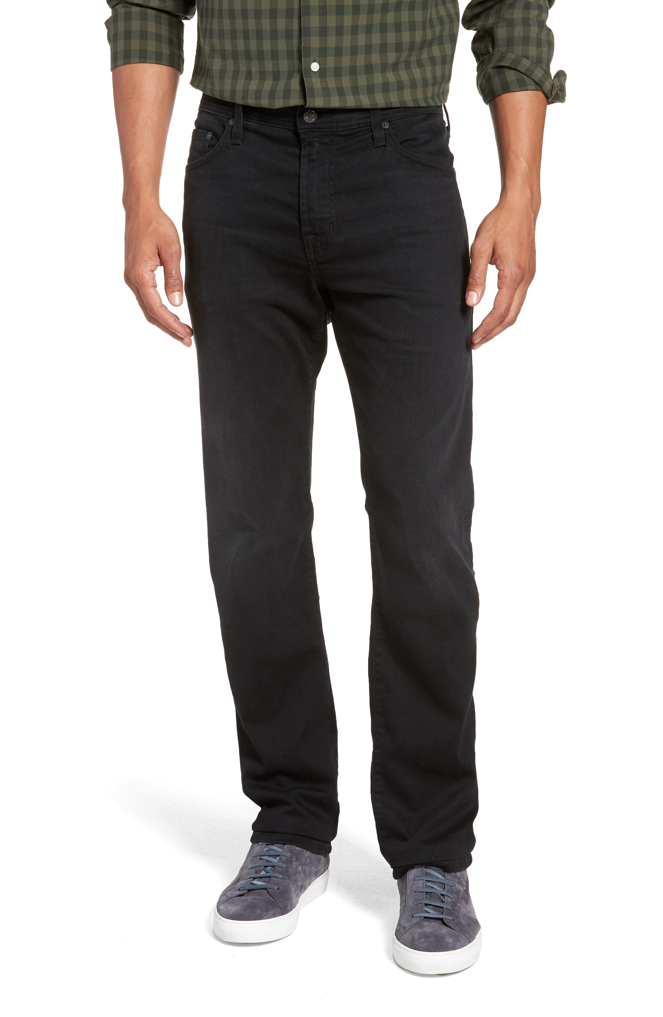 Everett Slim Straight Leg Jeans,                             Main thumbnail 1, color,                             001