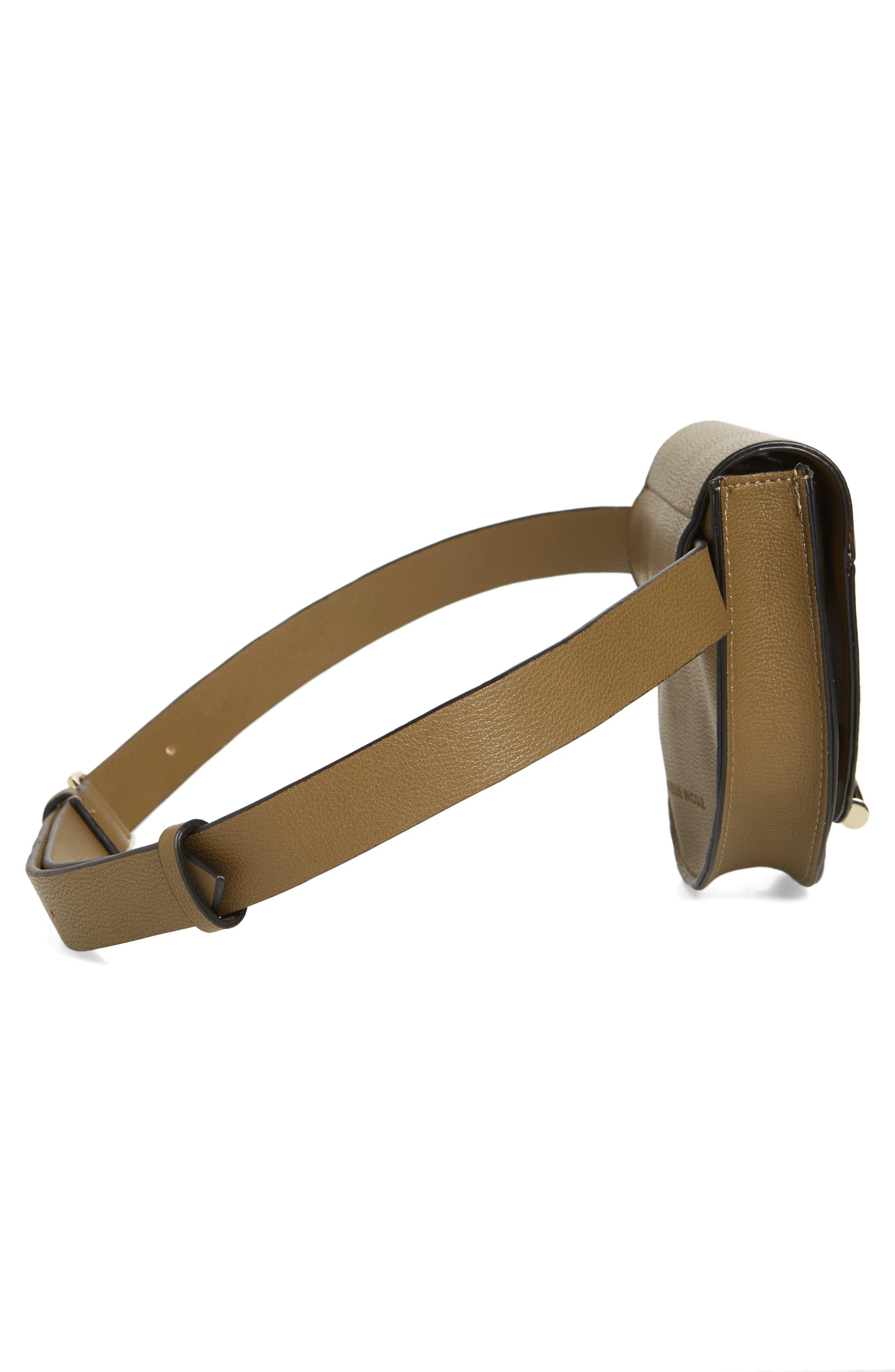 Alissa Faux Leather Belt Bag,                             Alternate thumbnail 6, color,                             OLIVE