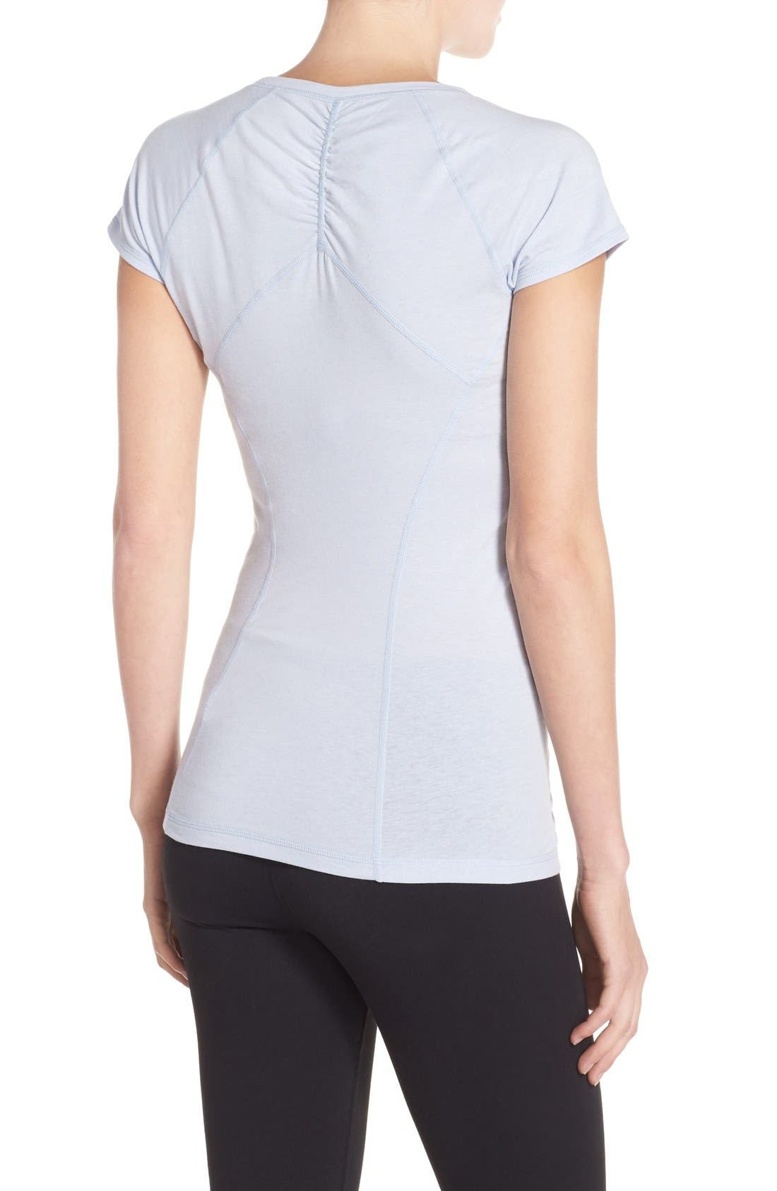 'Z 6' Ruched Tee,                             Alternate thumbnail 26, color,