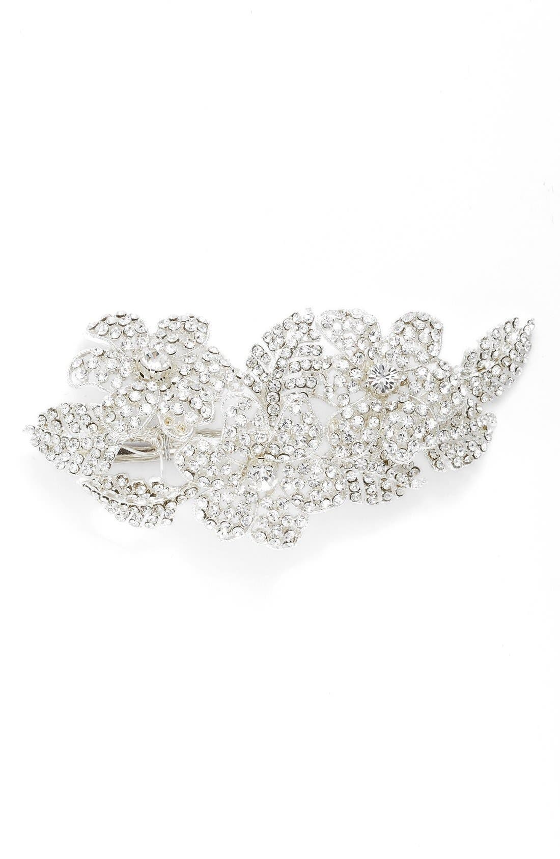 'Esther' Crystal Embellished Hair Clip,                             Main thumbnail 3, color,