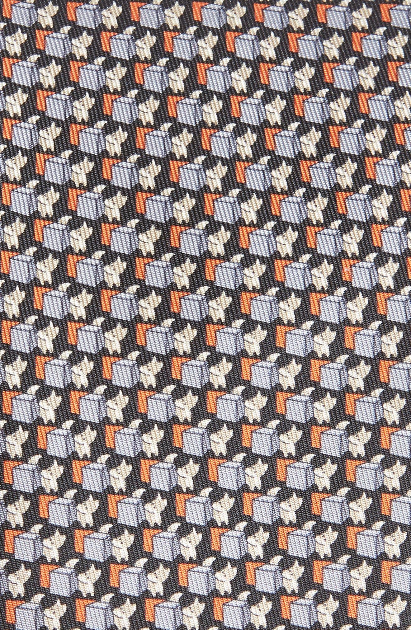 Fox Print Silk Tie,                             Alternate thumbnail 2, color,                             BLACK