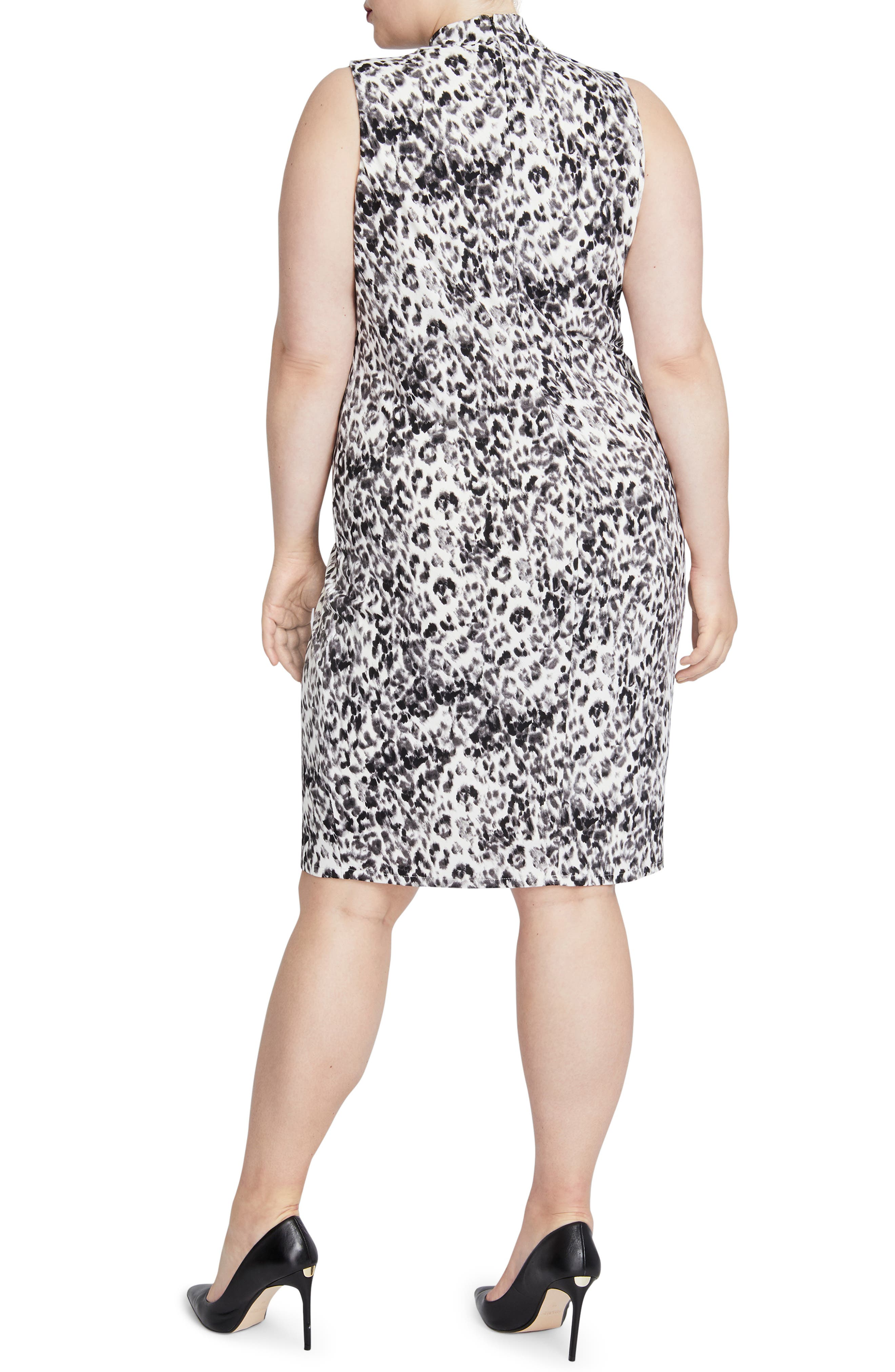 Axel Leopard Print Dress,                             Alternate thumbnail 2, color,                             001