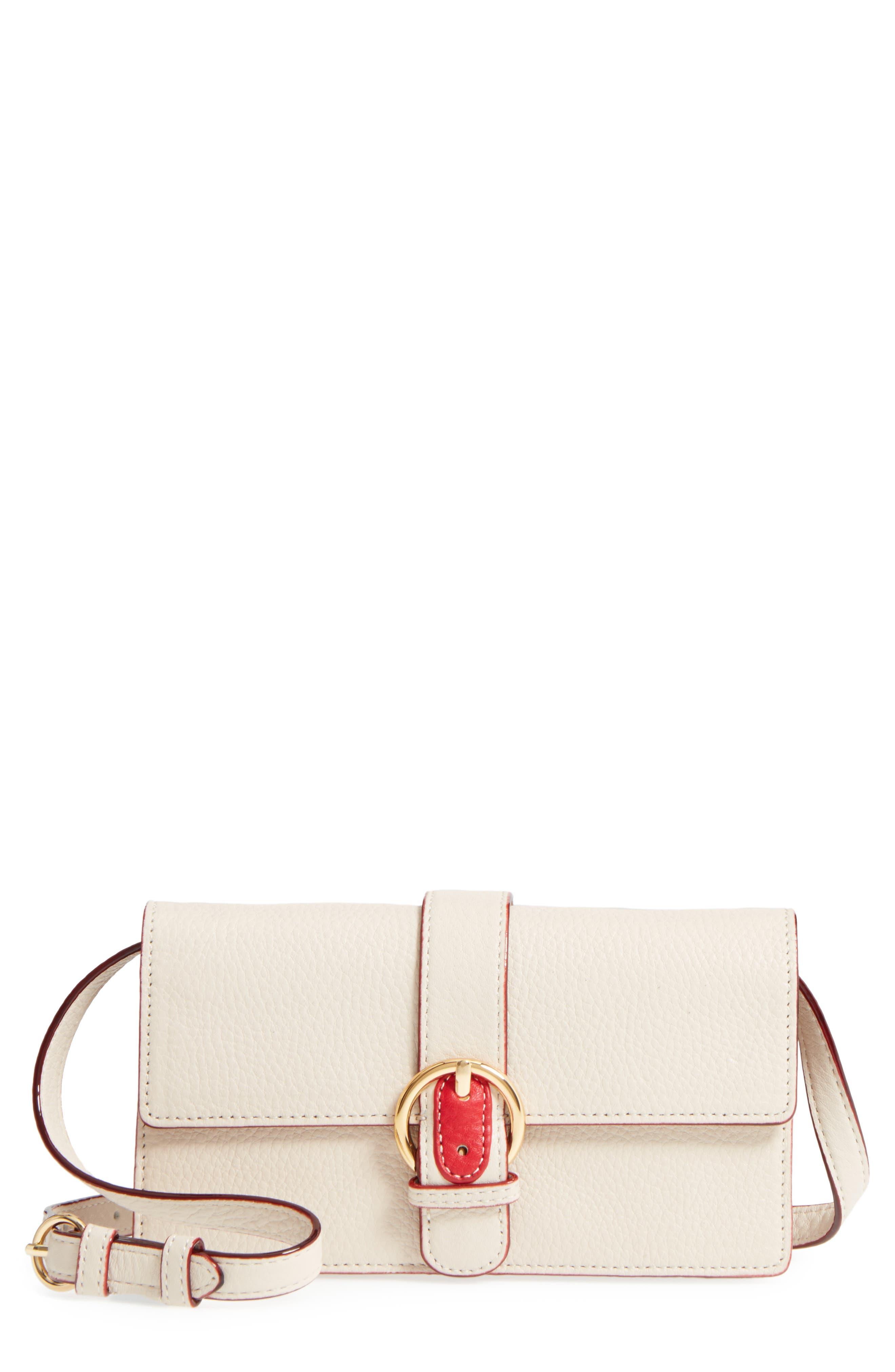 Calfskin Leather Crossbody Wallet,                             Main thumbnail 2, color,