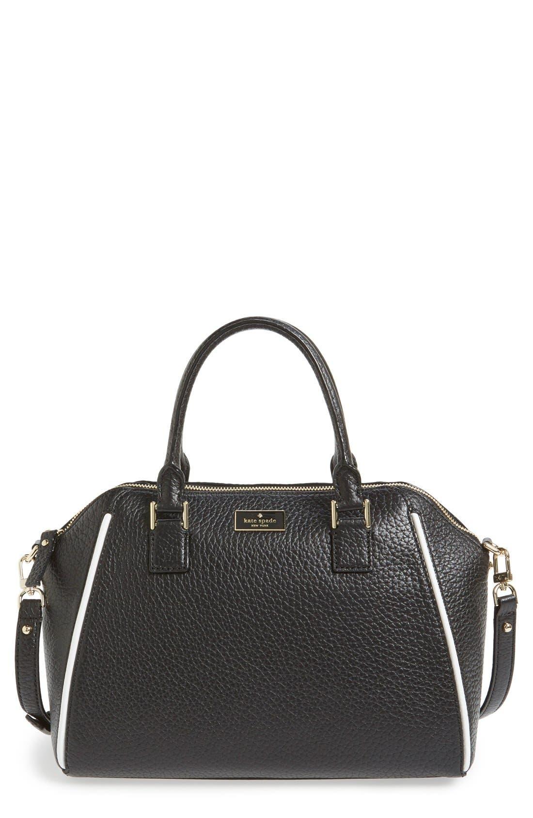 'prospect place - pippa' leather satchel, Main, color, 001