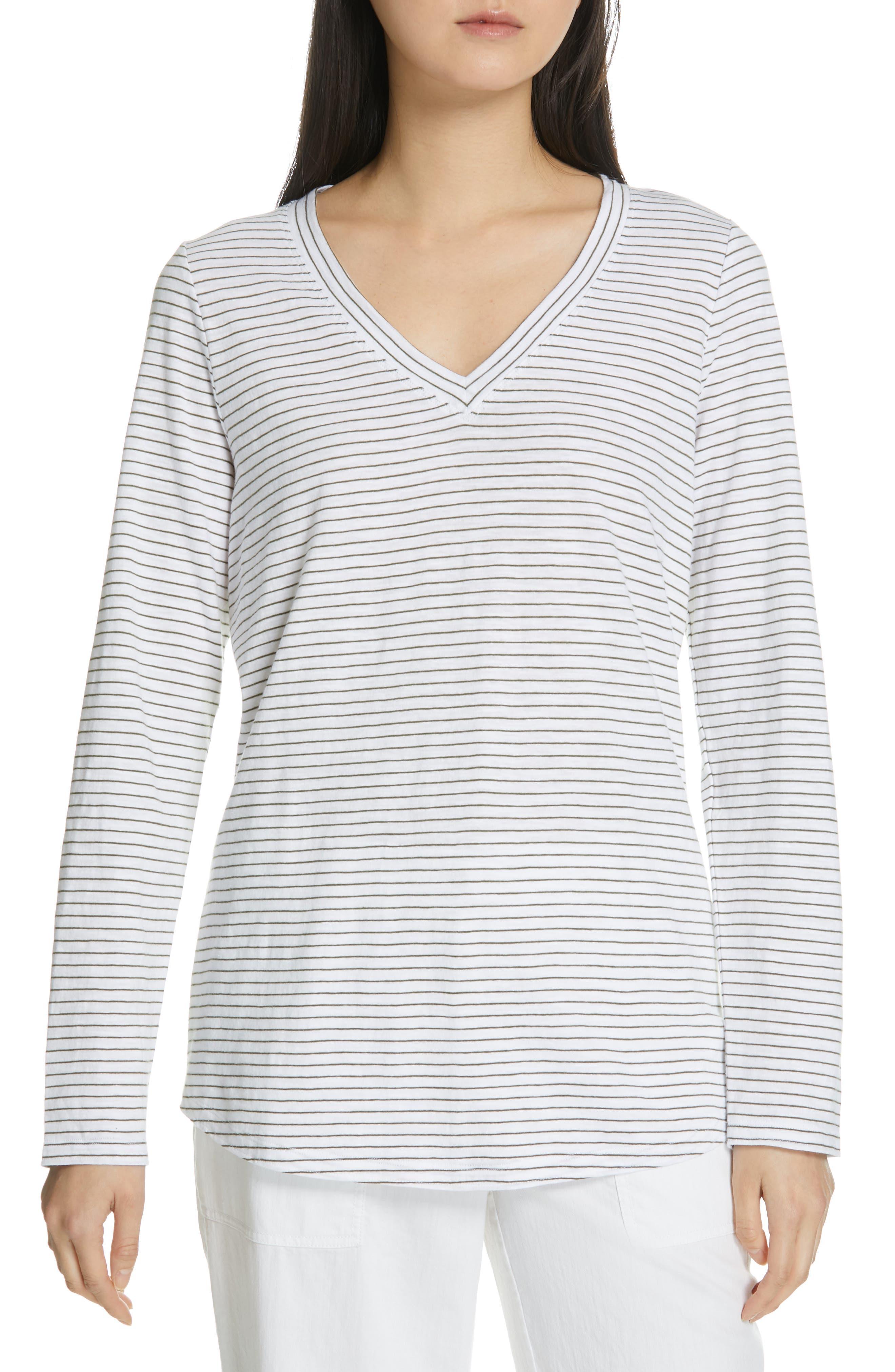 Eileen Fisher Organic Cotton Top, White