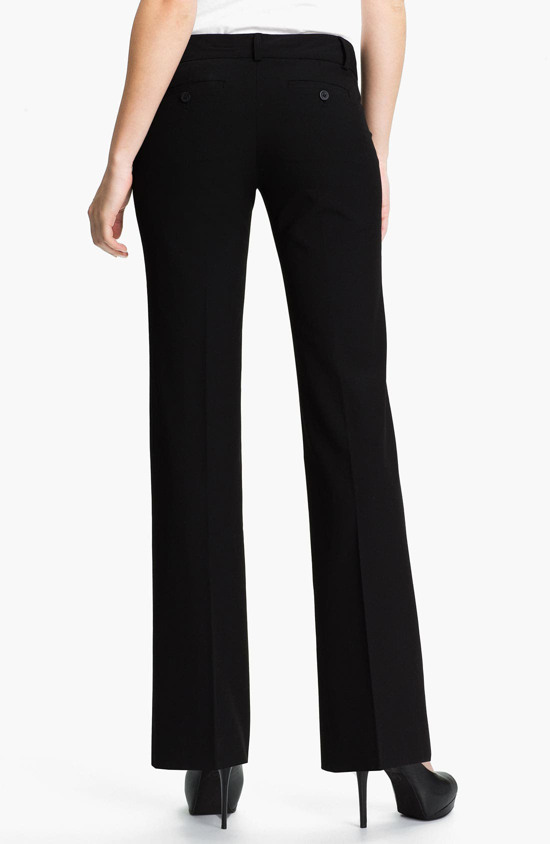 'Gramercy' Flare Leg Pants,                             Alternate thumbnail 4, color,                             001