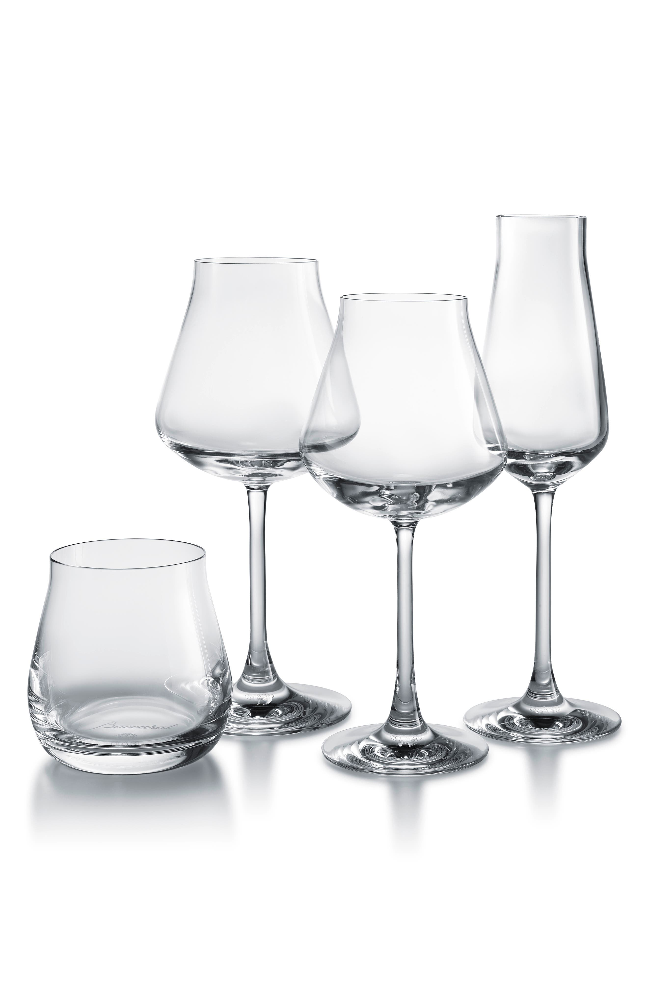 Chateau Baccarat Degustation Set of 4 Lead Crystal Tasting Glasses,                             Main thumbnail 1, color,                             CLEAR