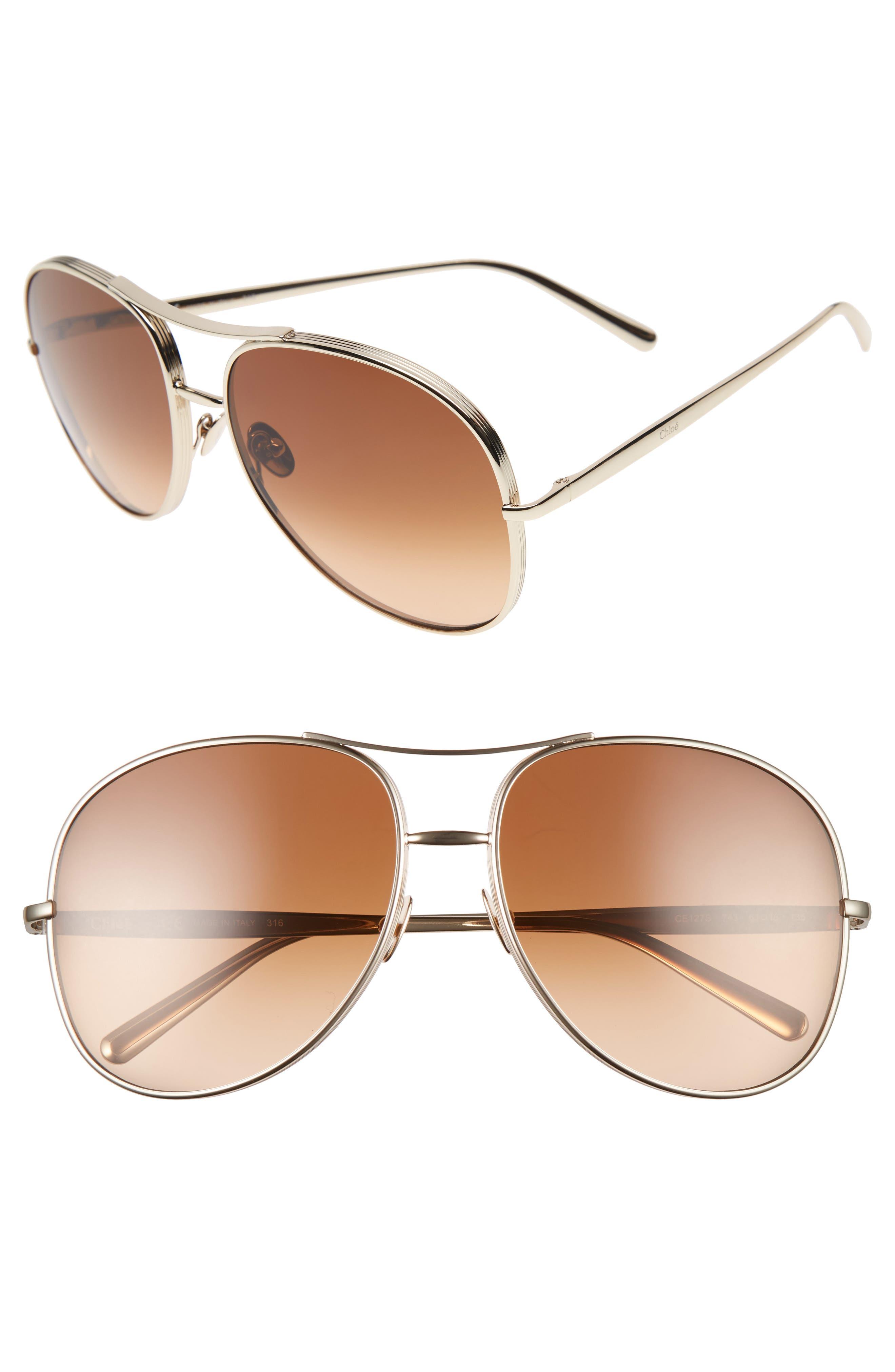 61mm Oversize Sunglasses,                             Main thumbnail 1, color,