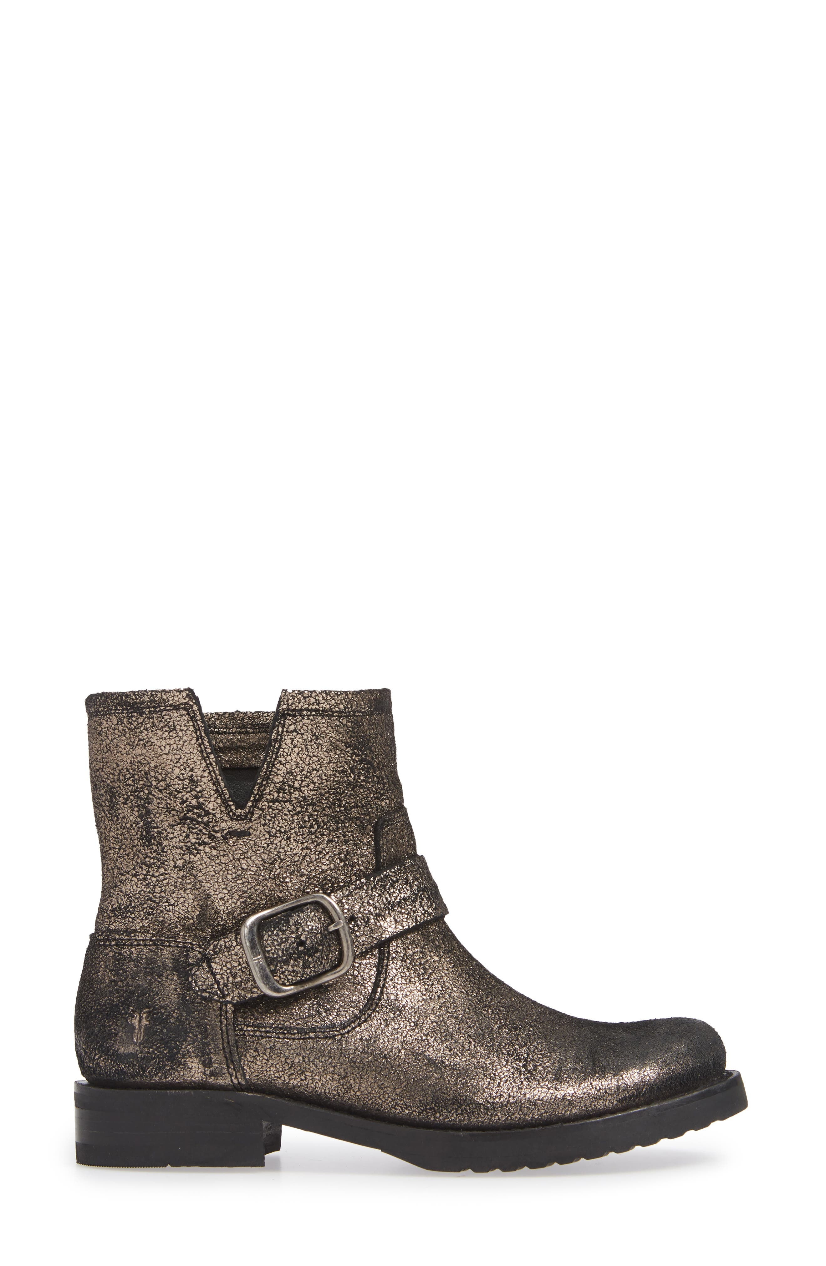 Veronica Bootie,                             Alternate thumbnail 3, color,                             GOLD LEATHER