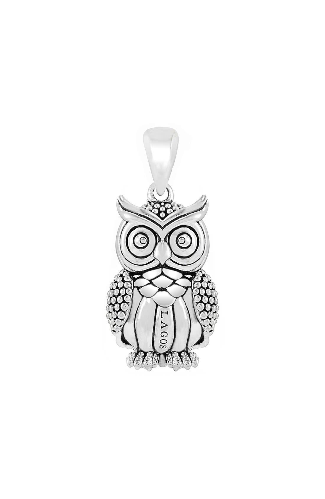 'Rare Wonders - Owl' Long Talisman Necklace,                             Alternate thumbnail 5, color,                             SILVER/ OWL