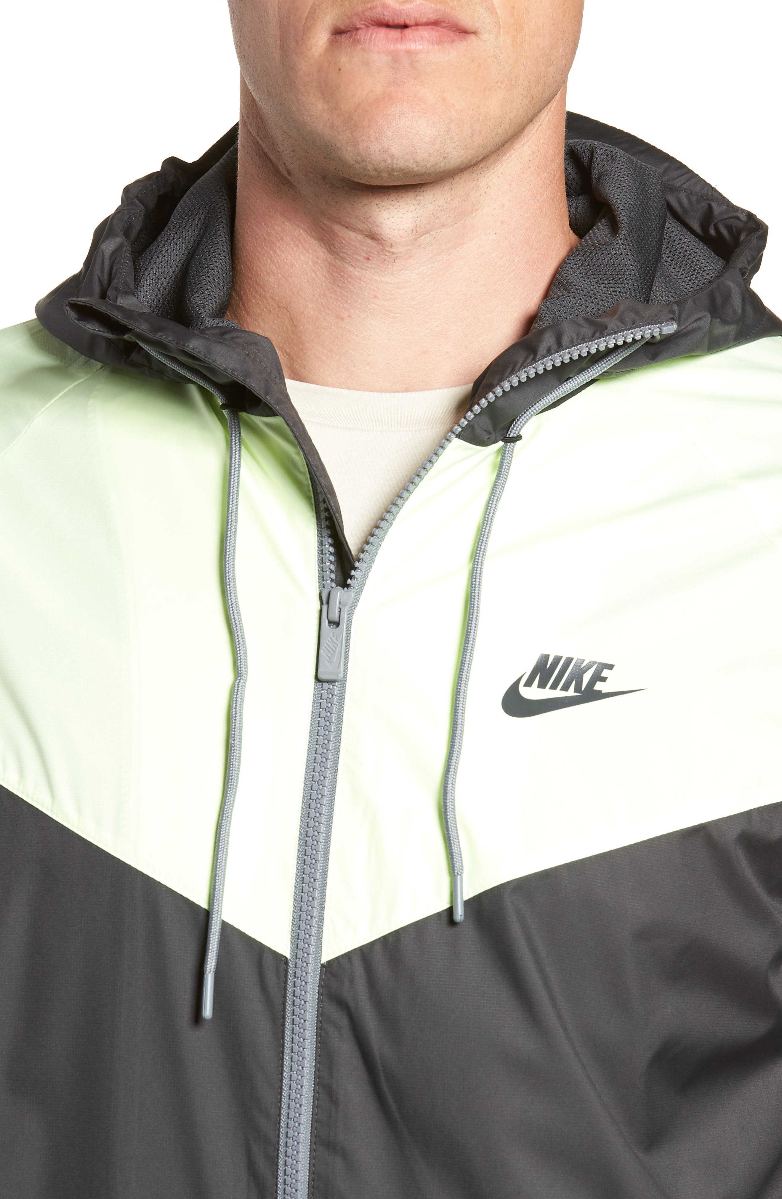 'Windrunner' Colorblock Jacket,                             Alternate thumbnail 4, color,                             ANTHRACITE/ BARELY VOLT