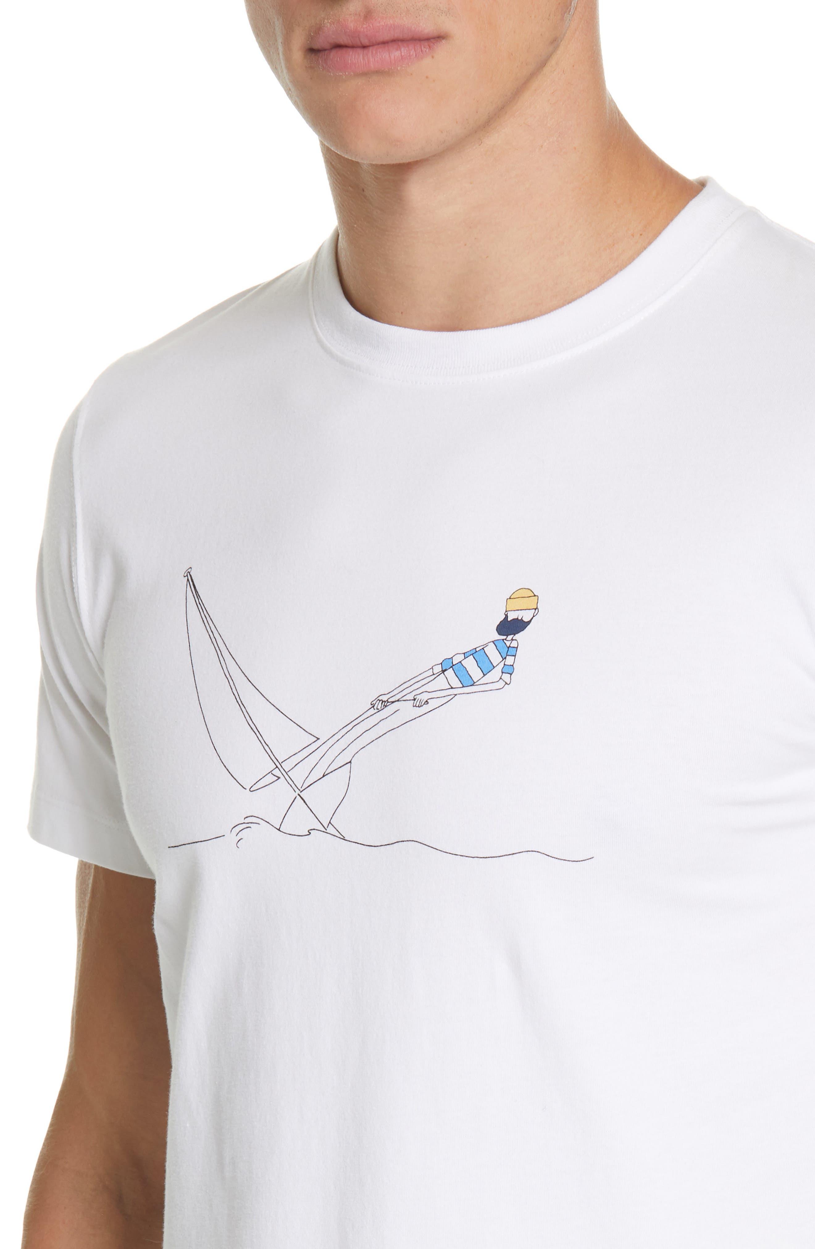 Daniel Frost - Hanging Graphic T-Shirt,                             Alternate thumbnail 4, color,                             WHITE