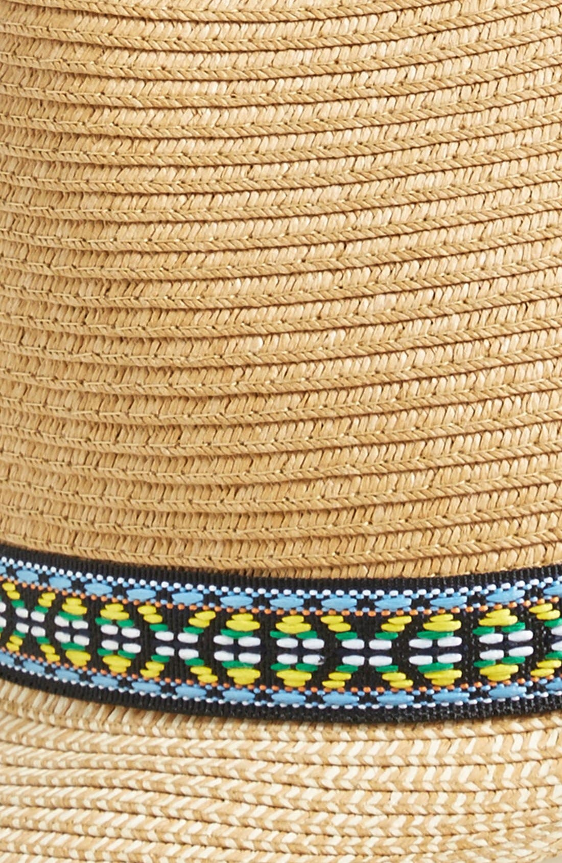 Fedora with Embroidered Band,                             Alternate thumbnail 2, color,                             235