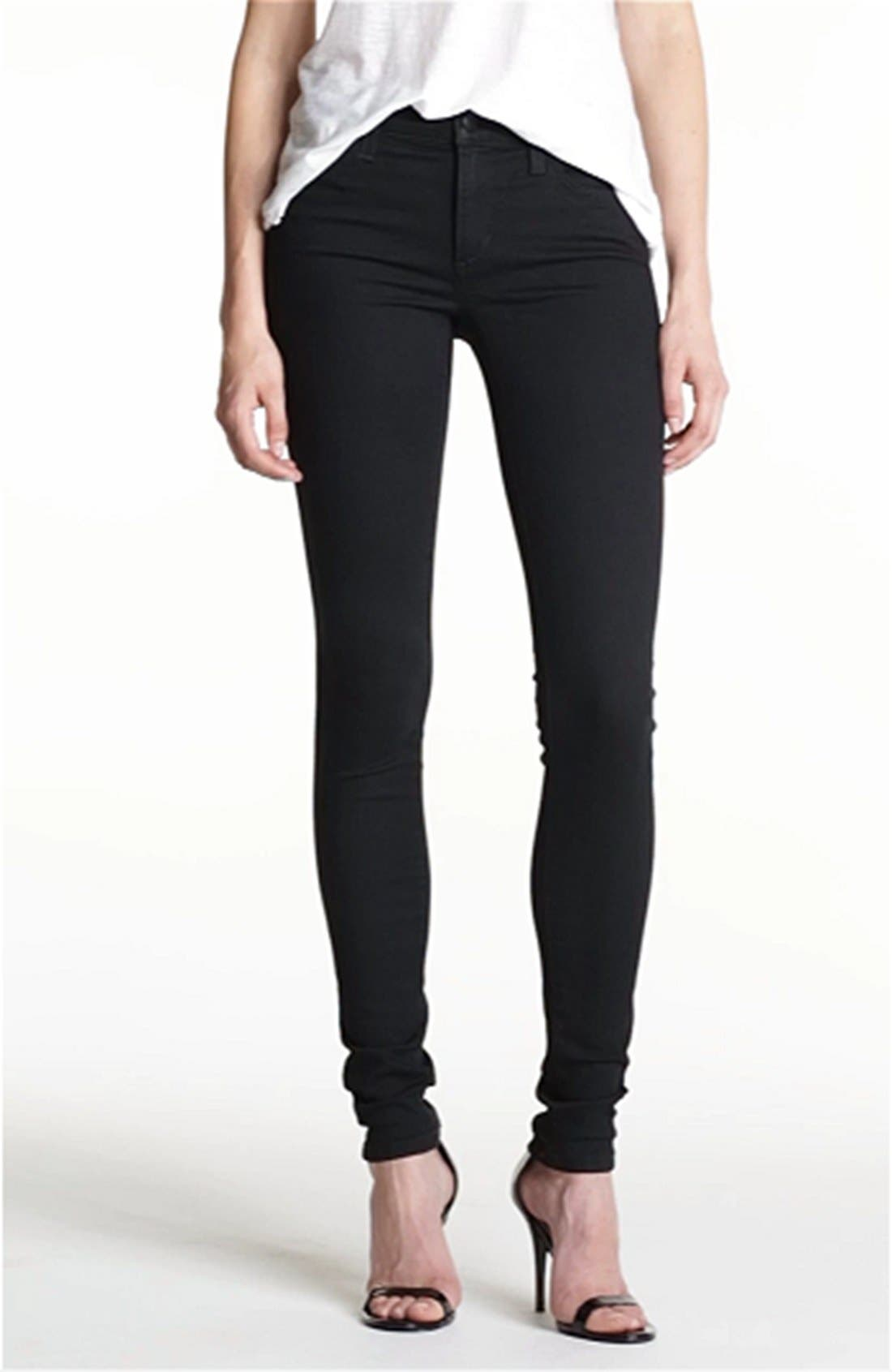 Skinny Stretch Jeans,                             Alternate thumbnail 5, color,                             001