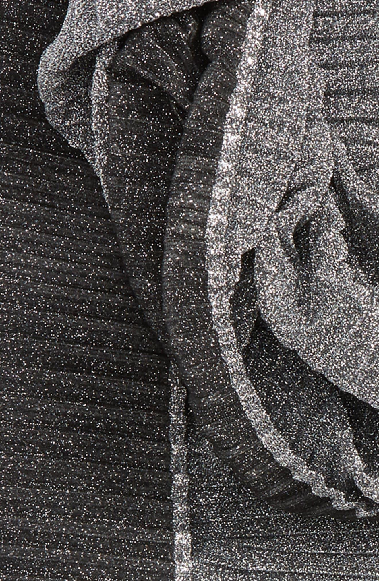 Ribbed Wrap,                             Alternate thumbnail 4, color,                             METALLIC HEMATITE