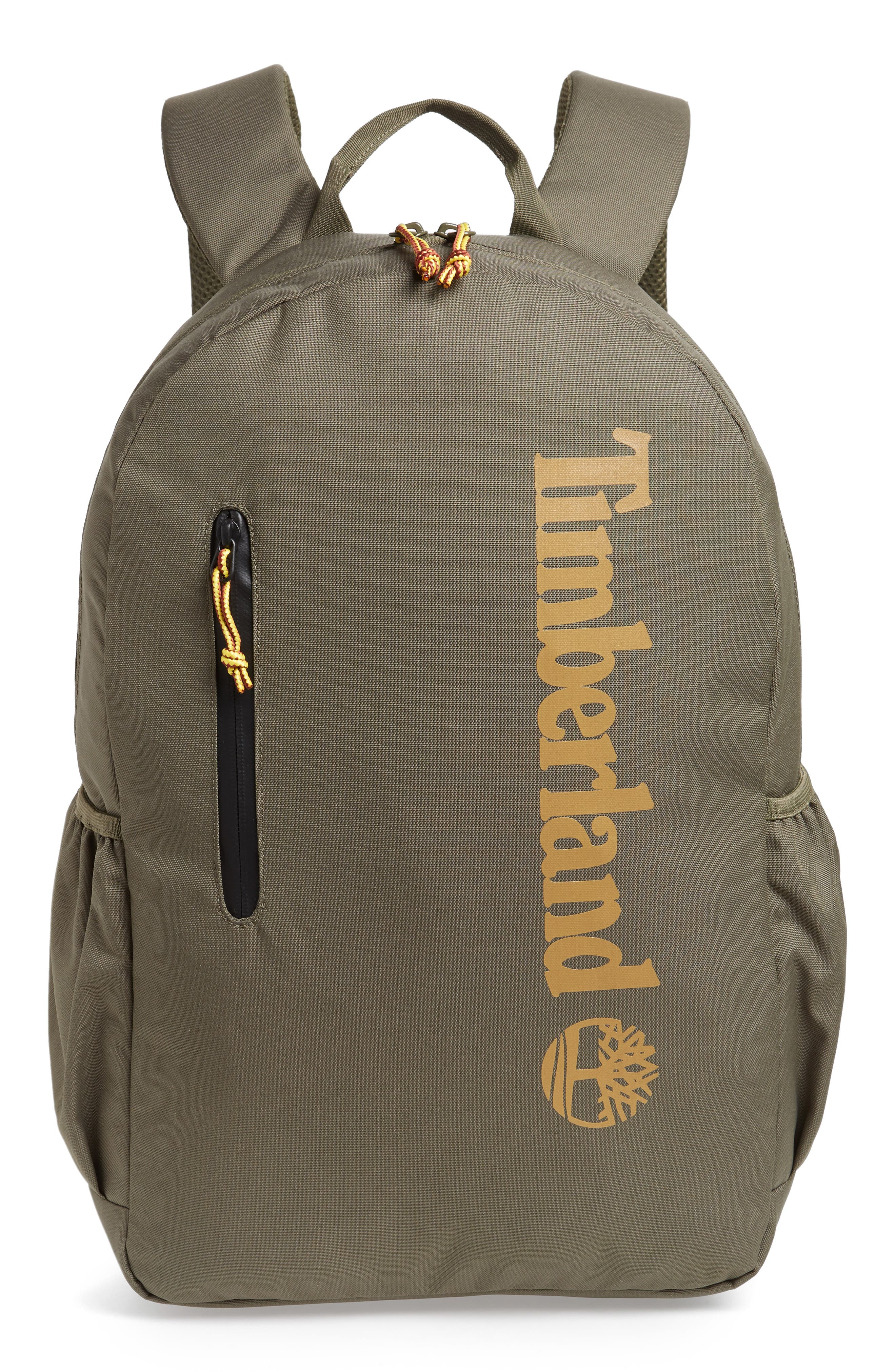 Timberland Linear Logo Water Resistant Backpack - Green