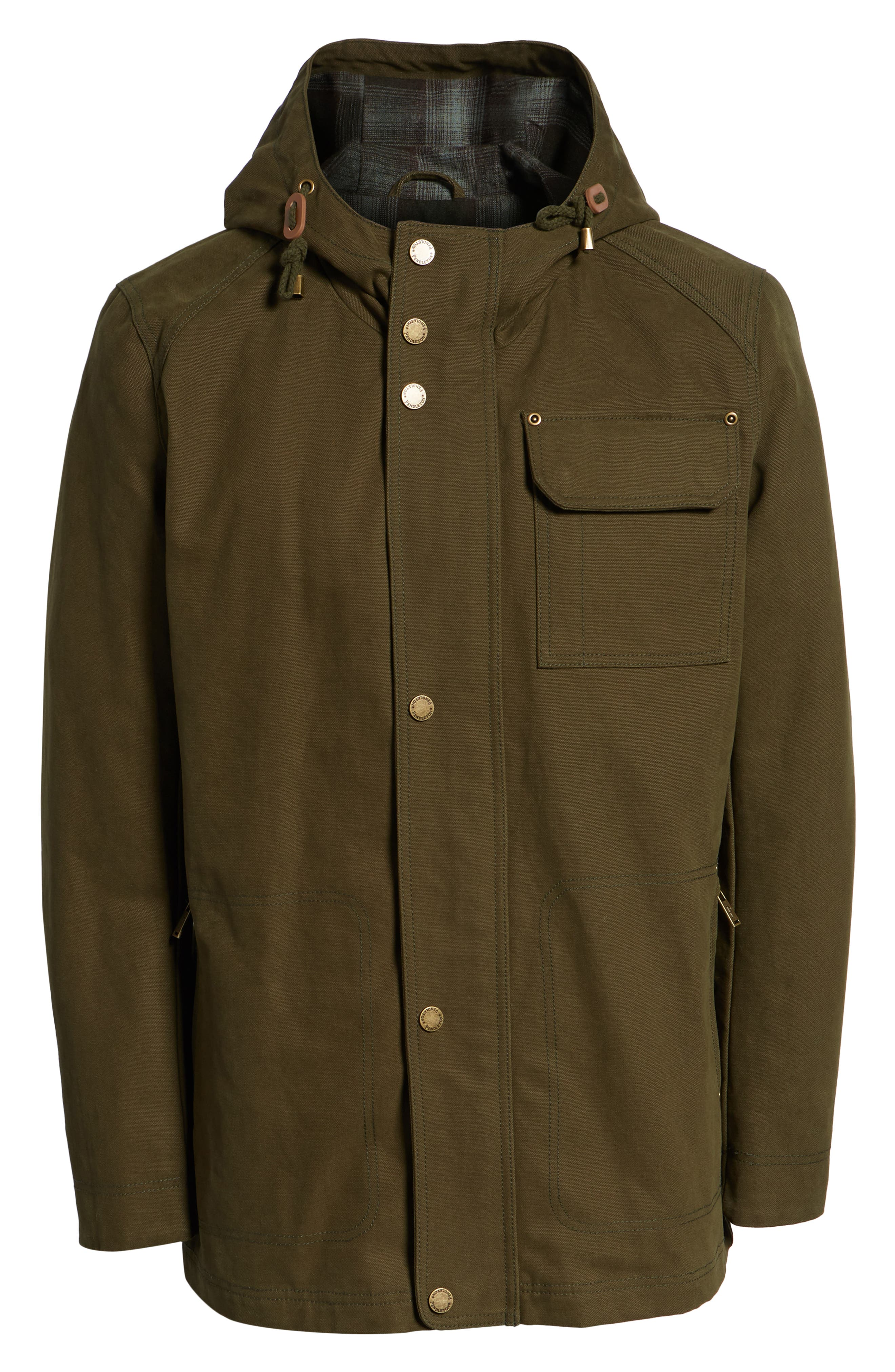 Dry Goods Cascade Raincoat,                             Alternate thumbnail 6, color,                             OLIVE