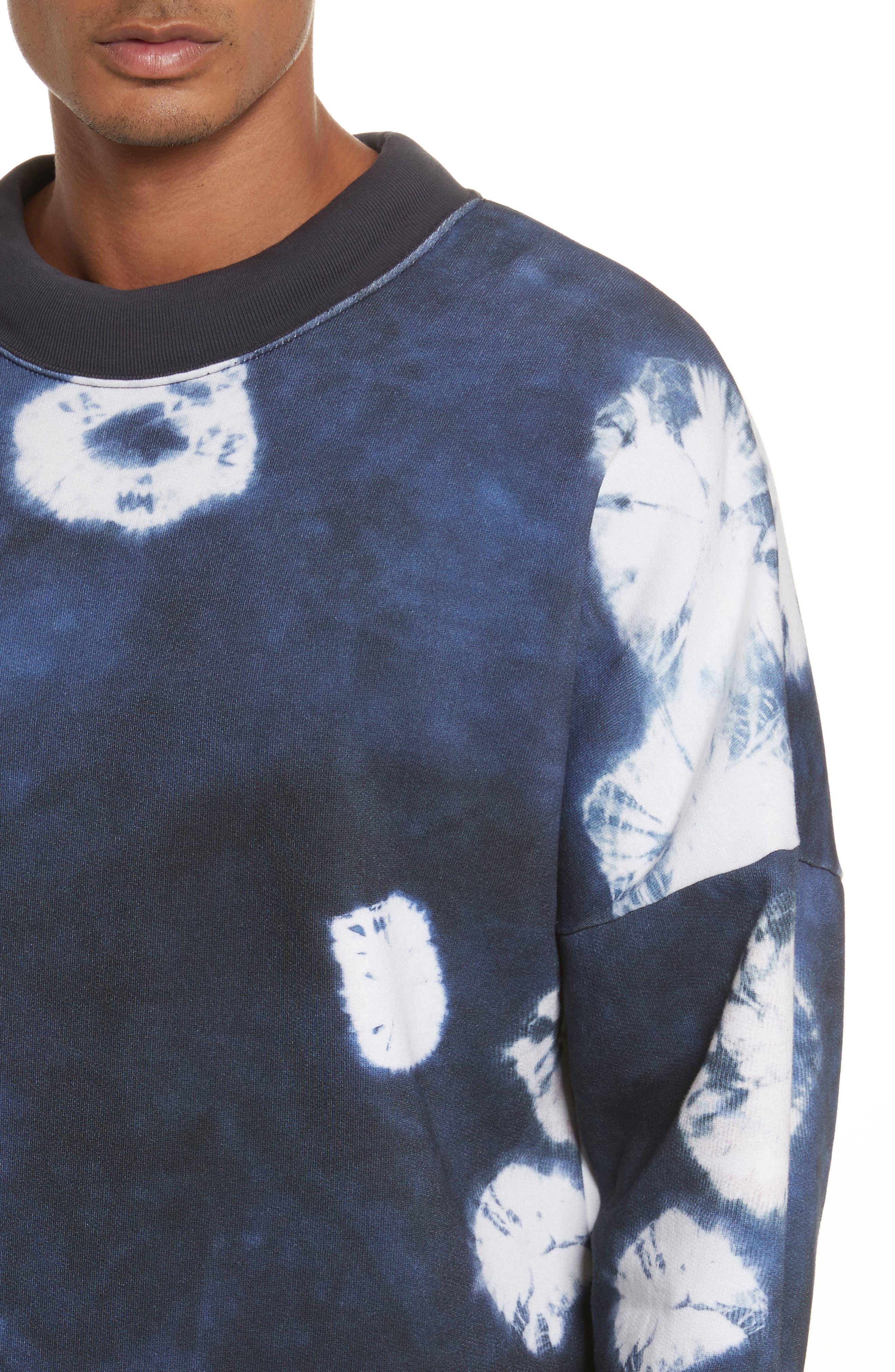 Fellke Bleach Indigo Sweatshirt,                             Alternate thumbnail 4, color,                             410