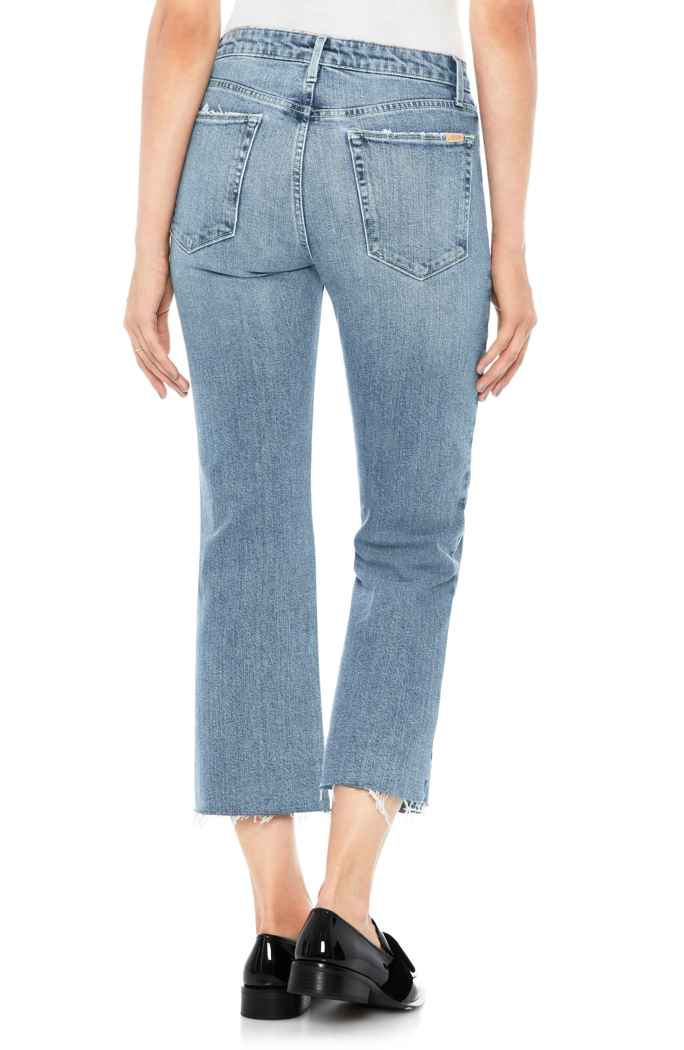 Wyatt Crop Wide Leg Jeans,                             Alternate thumbnail 2, color,                             415