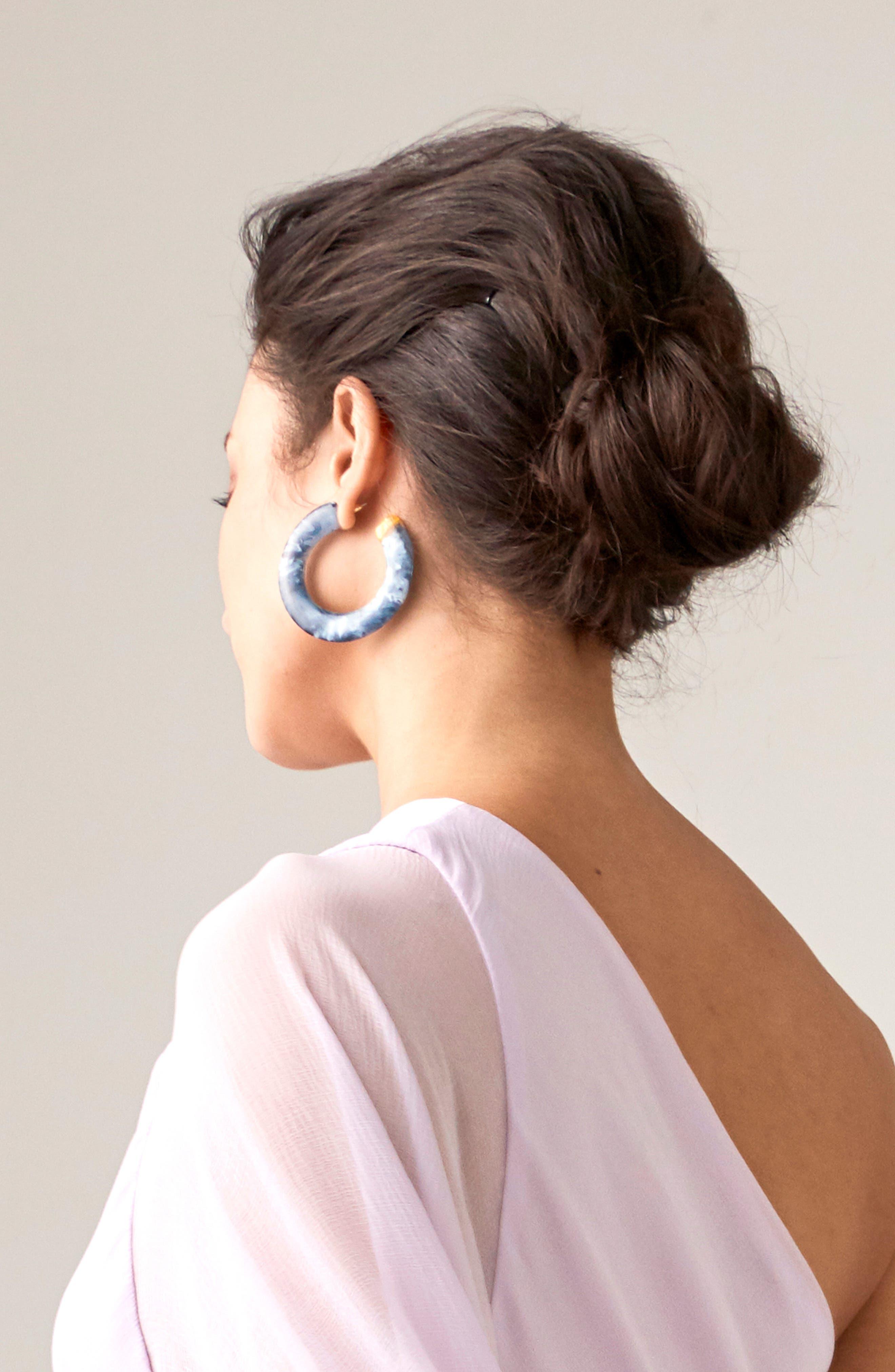 Mira Small Flat Hoop Earrings,                             Main thumbnail 1, color,                             400