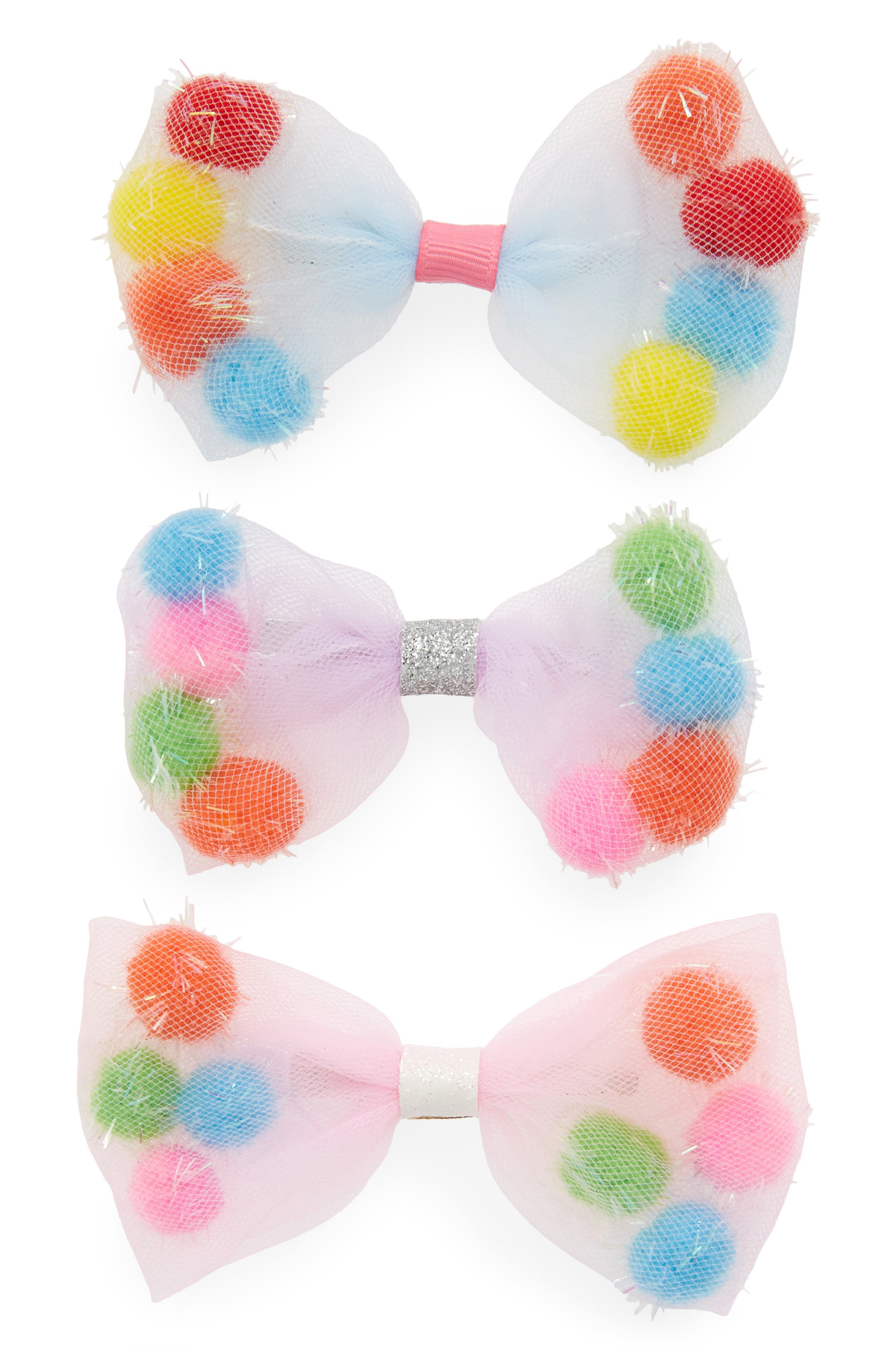3-Pack Bow Hair Clips,                             Alternate thumbnail 2, color,                             MULTI COMBO