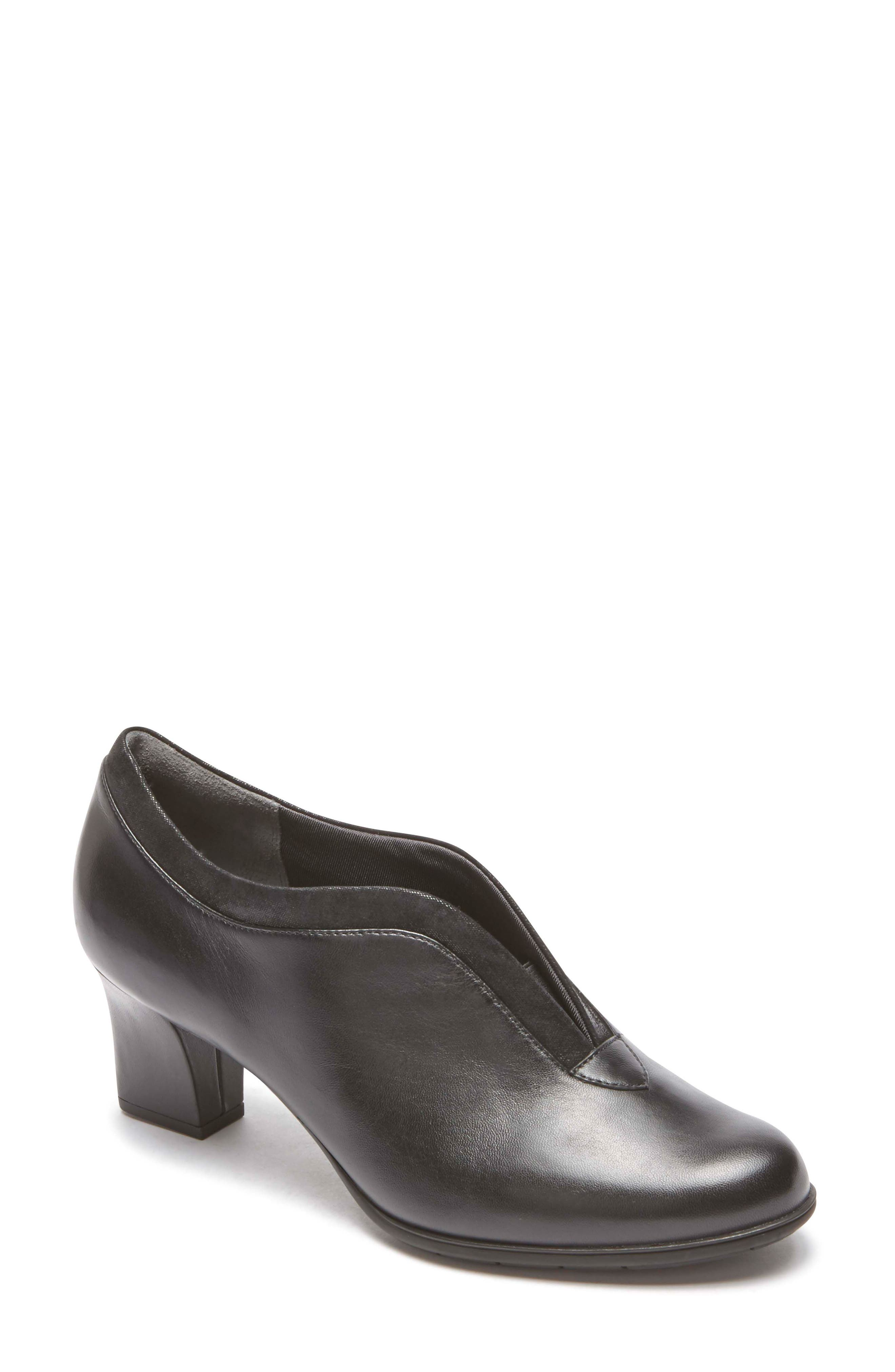 Esty Luxe Pump,                         Main,                         color, BLACK LEATHER