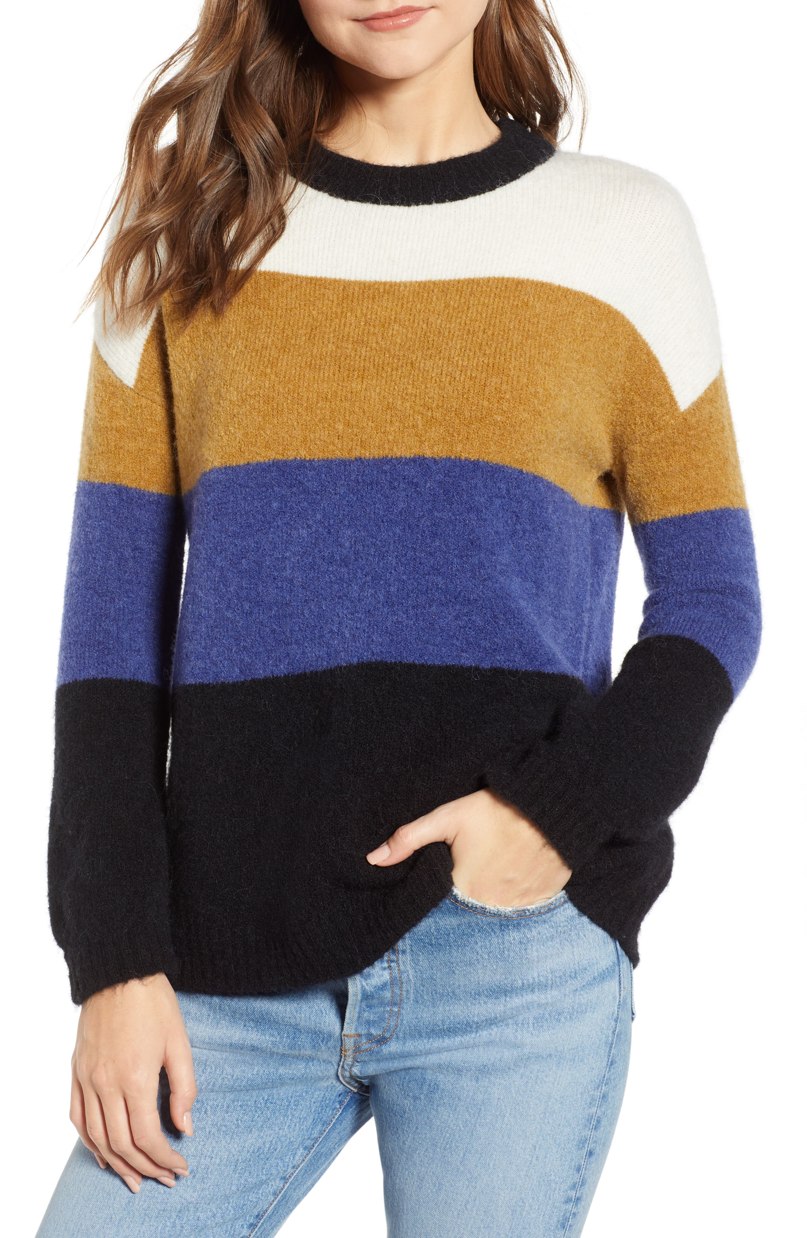RAILS,                             Sylvie Stripe Sweater,                             Main thumbnail 1, color,                             900
