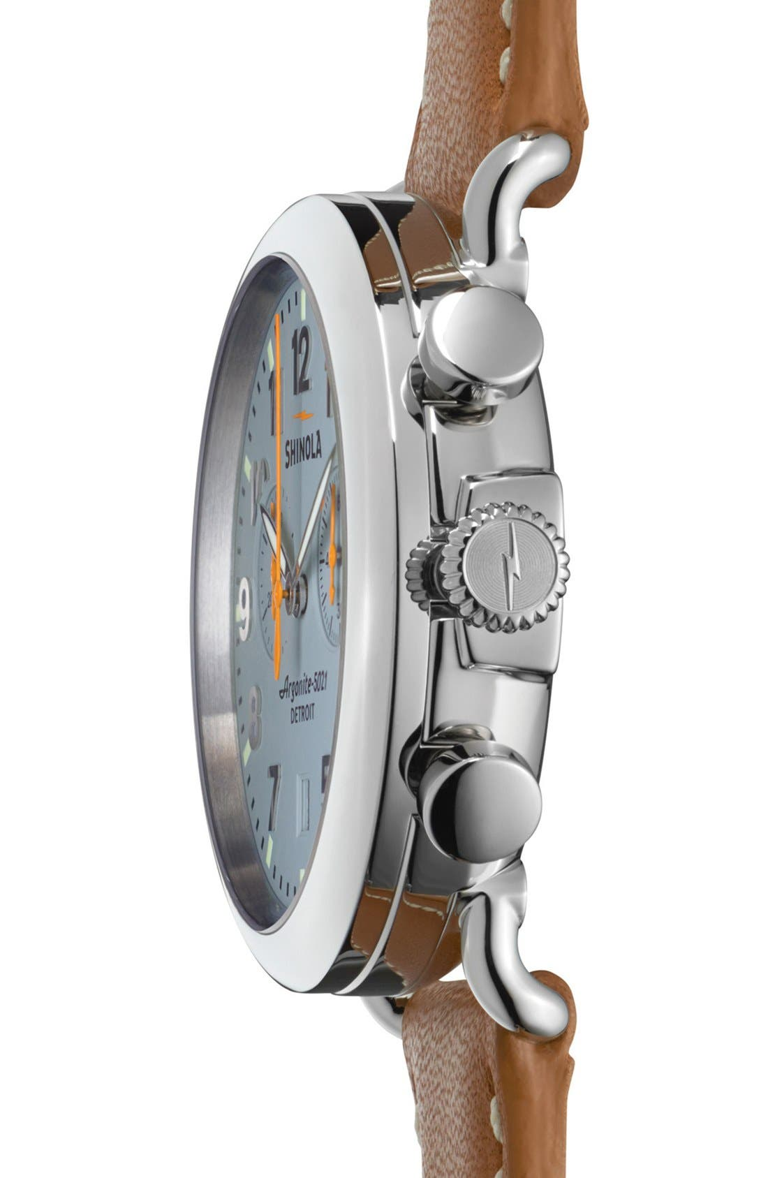 'The Runwell Chrono' Leather Strap Watch, 41mm,                             Alternate thumbnail 21, color,