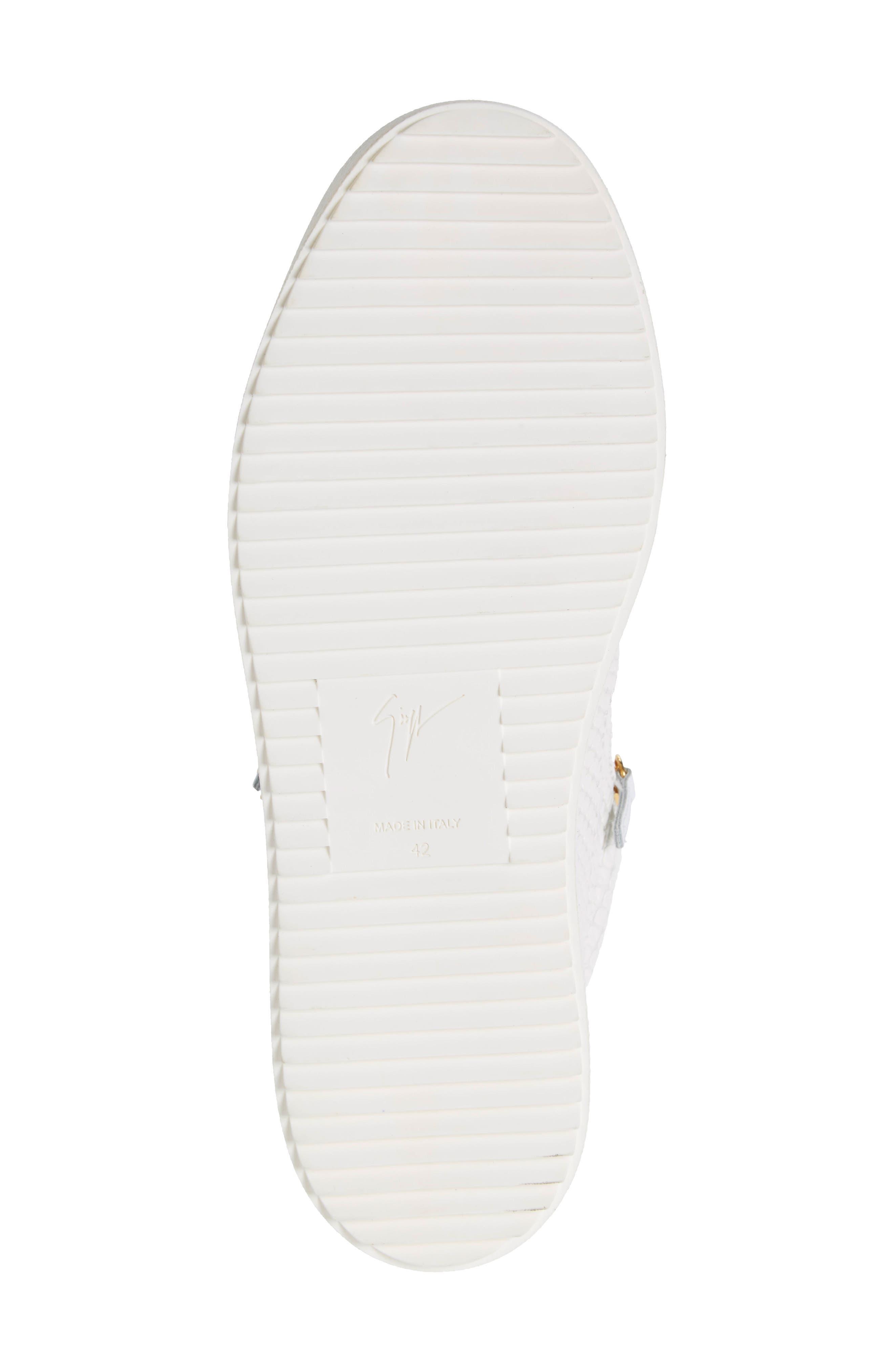 Mid Top Sneaker,                             Alternate thumbnail 6, color,                             BIANCO