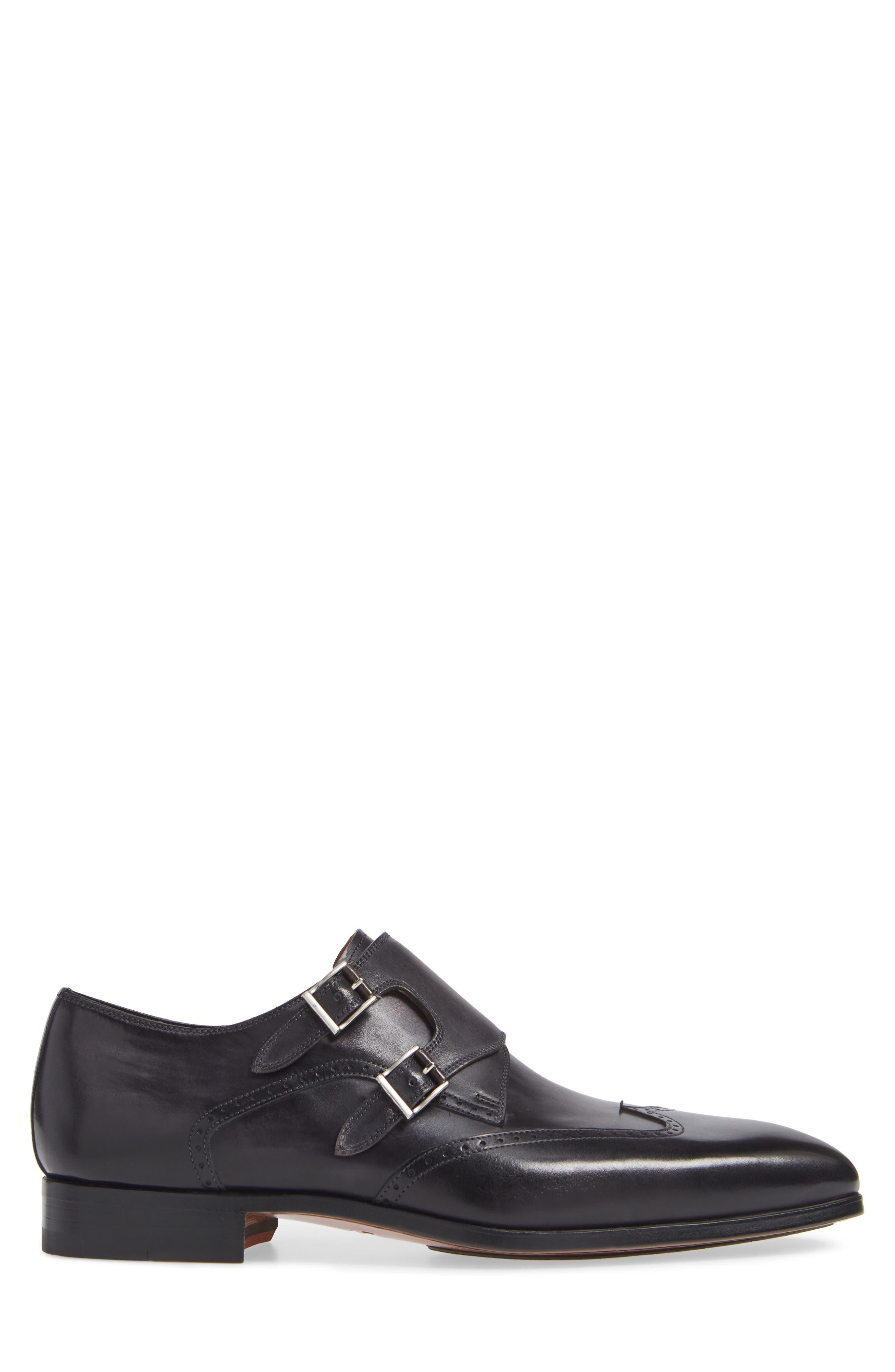 Dixon Wingtip Double Strap Monk Shoe,                             Alternate thumbnail 3, color,                             GREY